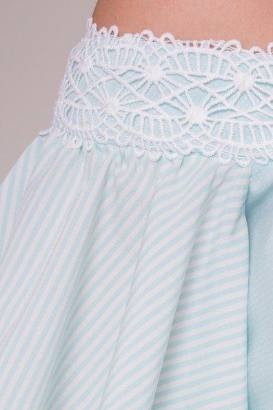 Платье Виолетта 4984 Цвет: Мята/молоко горох 1