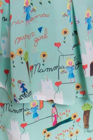 TW Платье Восток 5119 Цвет: Мята/Детские рисунки 16/1