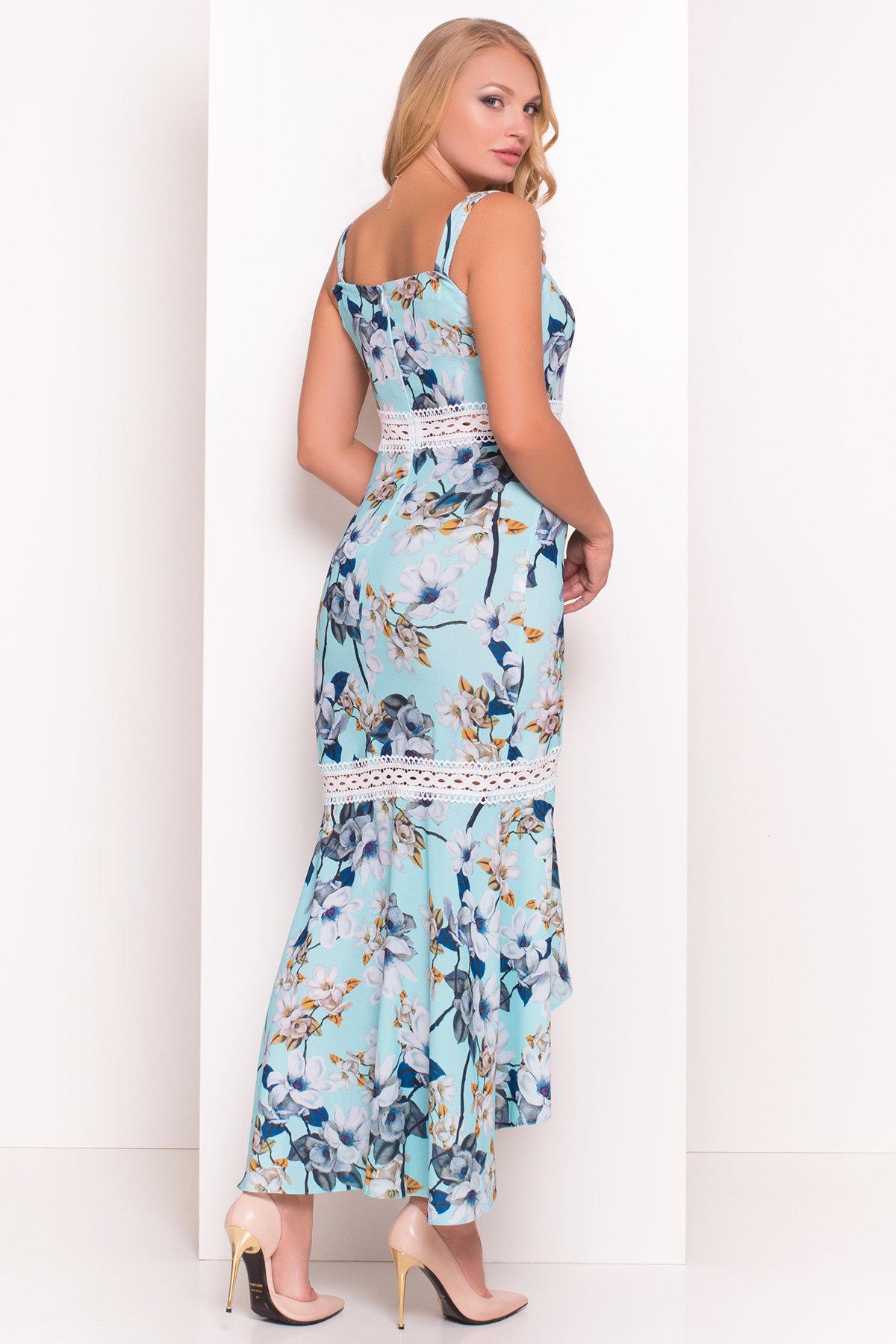 Платье Регина Donna 5102 АРТ. 35869 Цвет: Мята/серый - фото 3, интернет магазин tm-modus.ru
