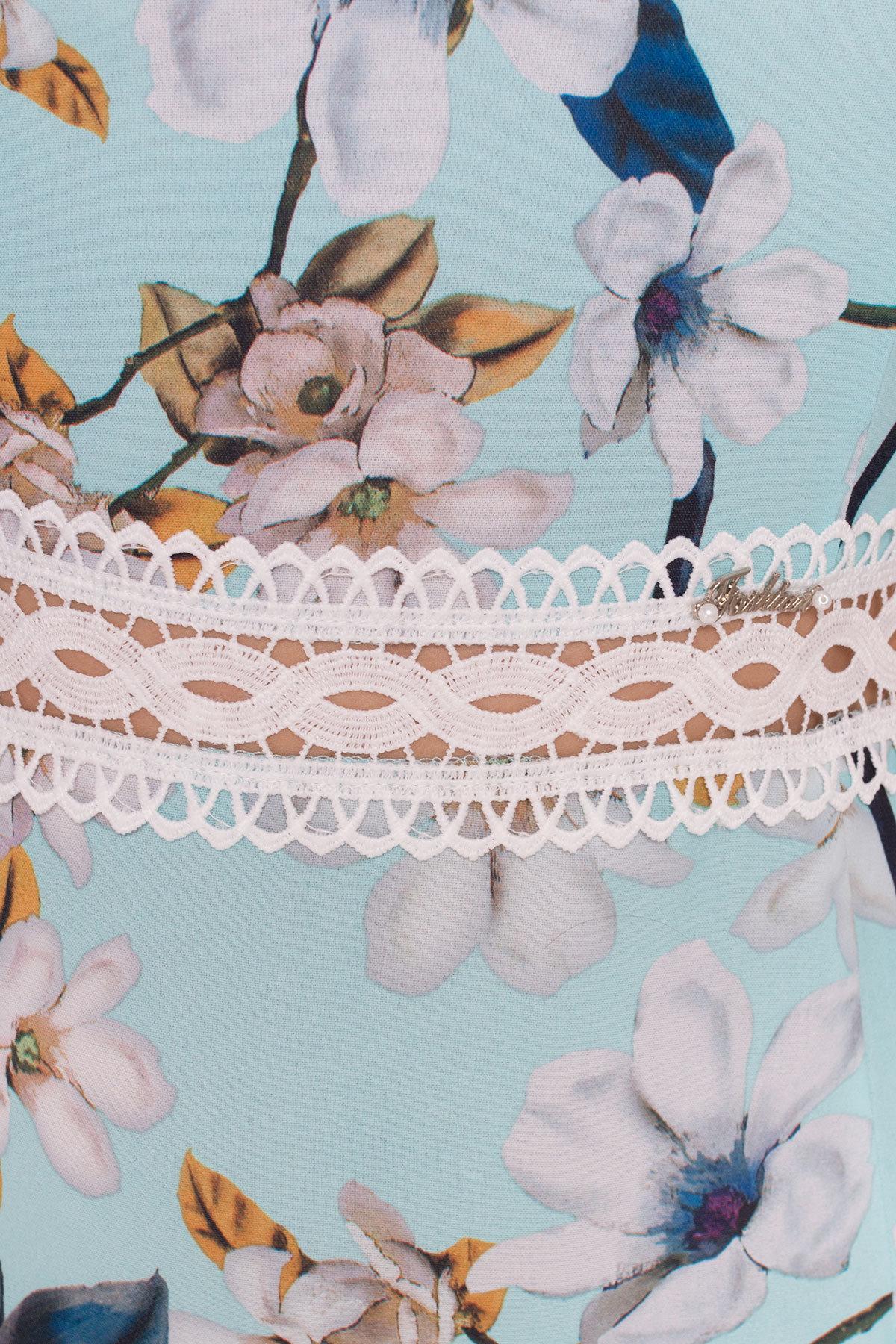 Платье Регина Donna 5102 АРТ. 35869 Цвет: Мята/серый - фото 4, интернет магазин tm-modus.ru