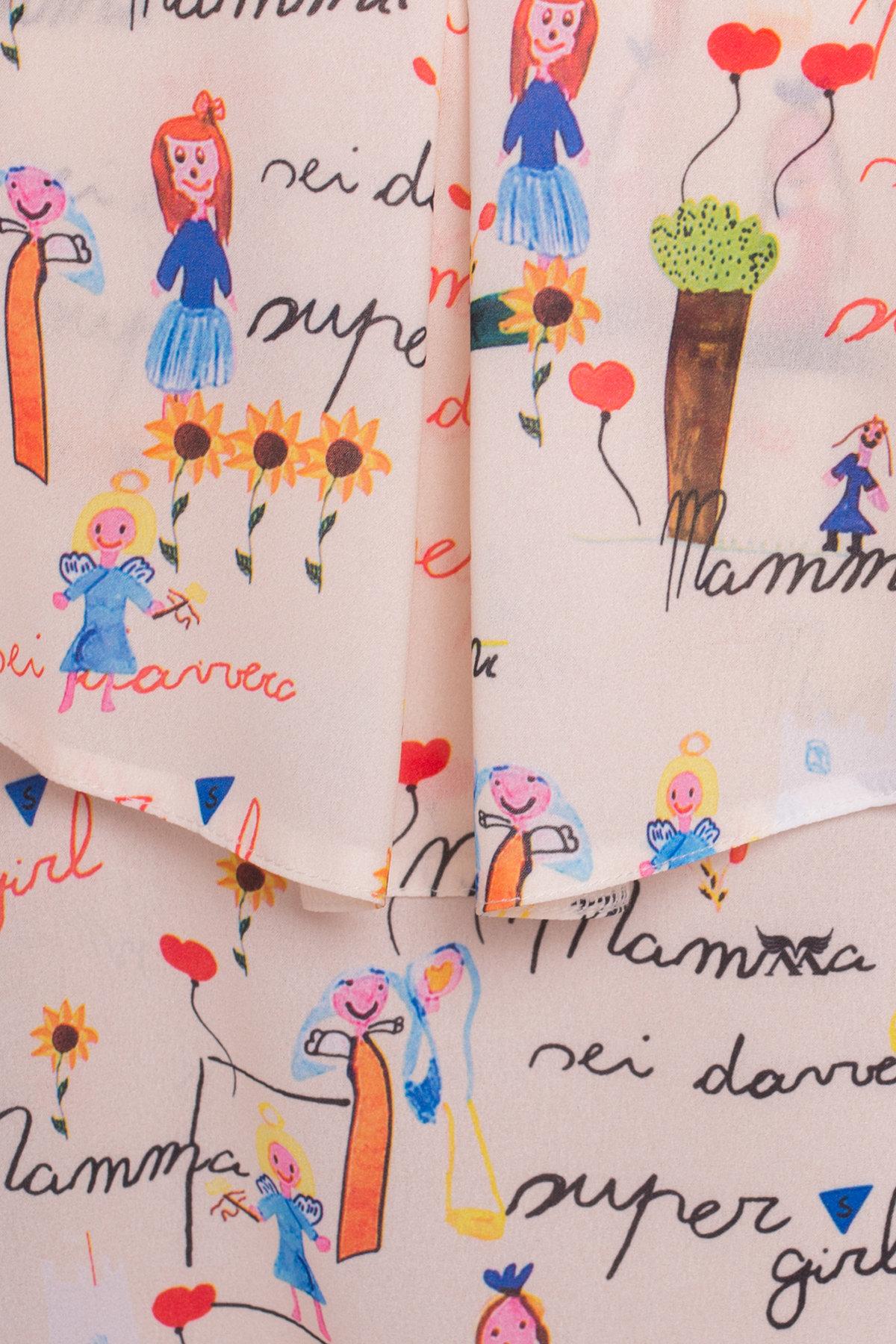 TW Платье Восток 5119 АРТ. 35884 Цвет: Бежевый светлый/детские рисунки - фото 4, интернет магазин tm-modus.ru