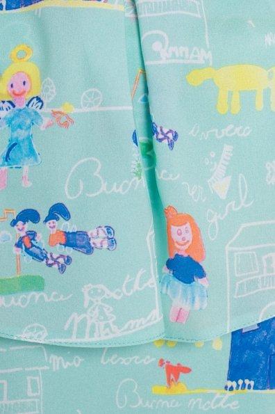 TW Платье Восток 5119 Цвет: Мята/Детские рисунки 14/2