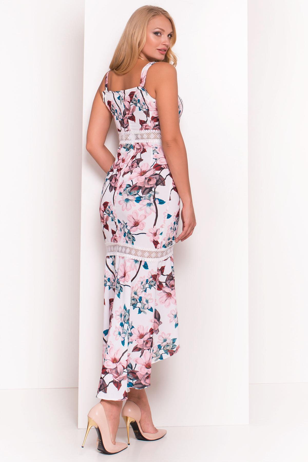Платье Регина Donna 5102 АРТ. 35777 Цвет: Молоко/персик - фото 2, интернет магазин tm-modus.ru