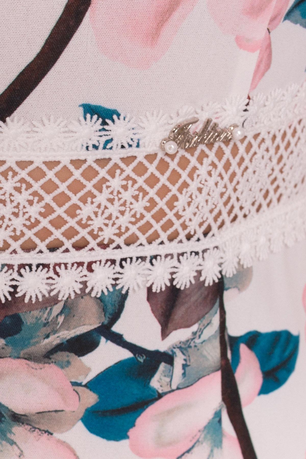 Платье Регина Donna 5102 АРТ. 35777 Цвет: Молоко/персик - фото 4, интернет магазин tm-modus.ru