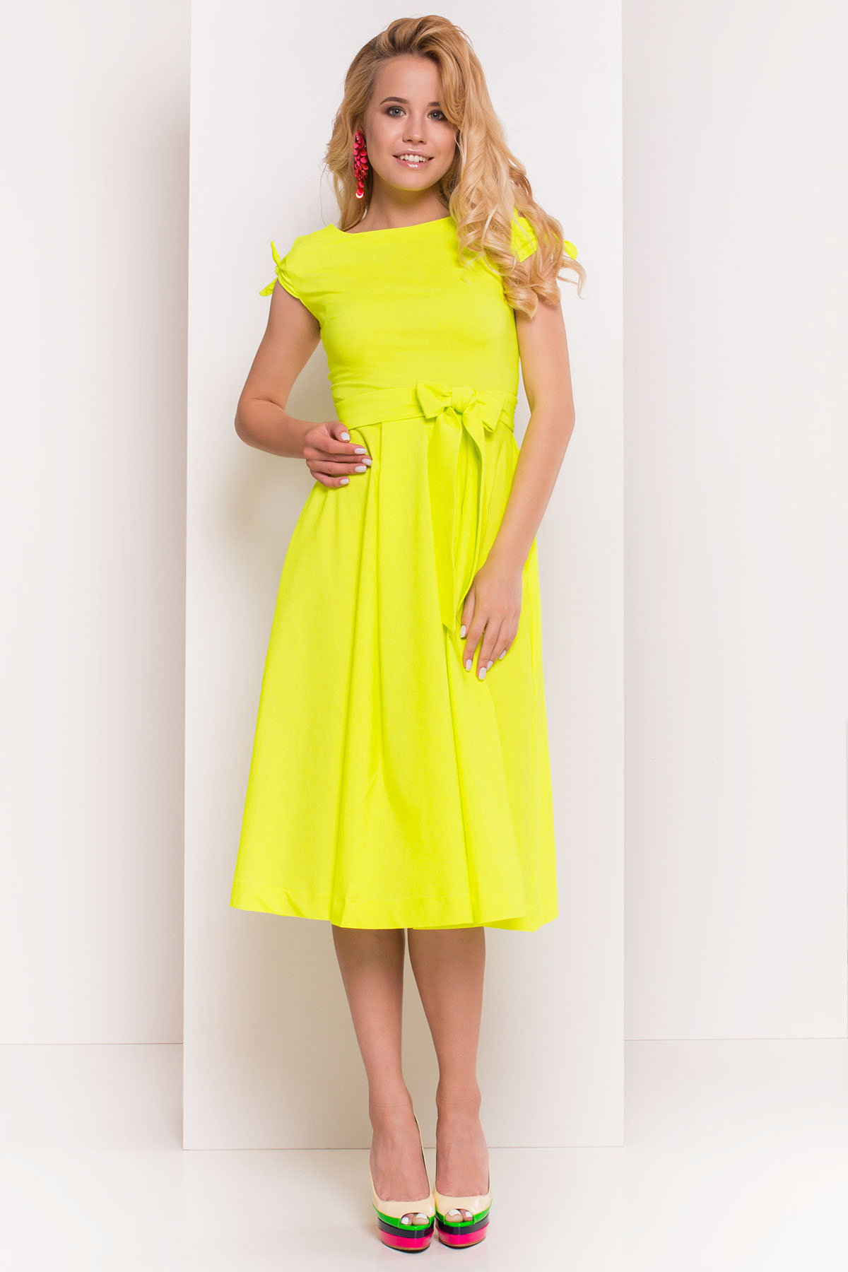 Платье Жадор 5125 Цвет: Лимон неон
