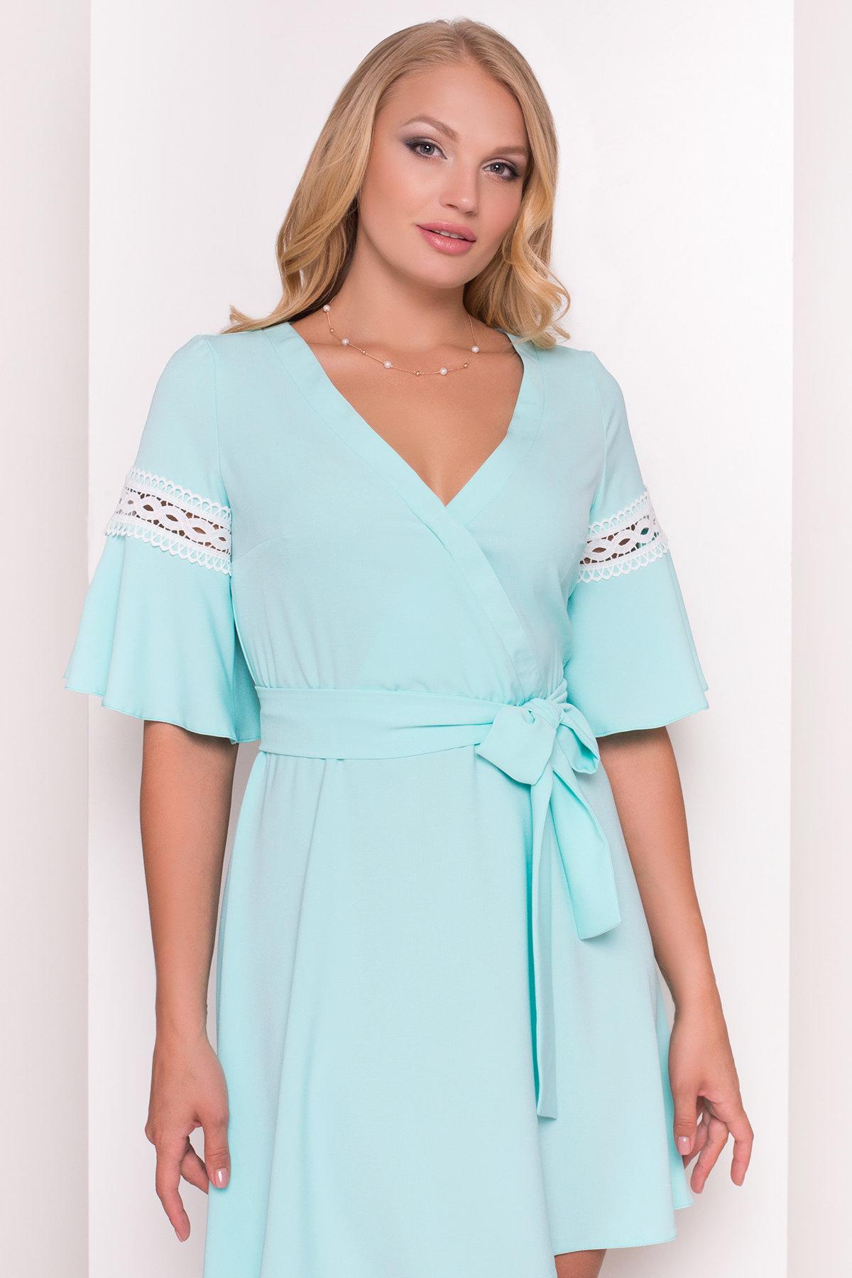 Платье Аделина Donna 5026 АРТ. 35524 Цвет: Мята - фото 3, интернет магазин tm-modus.ru