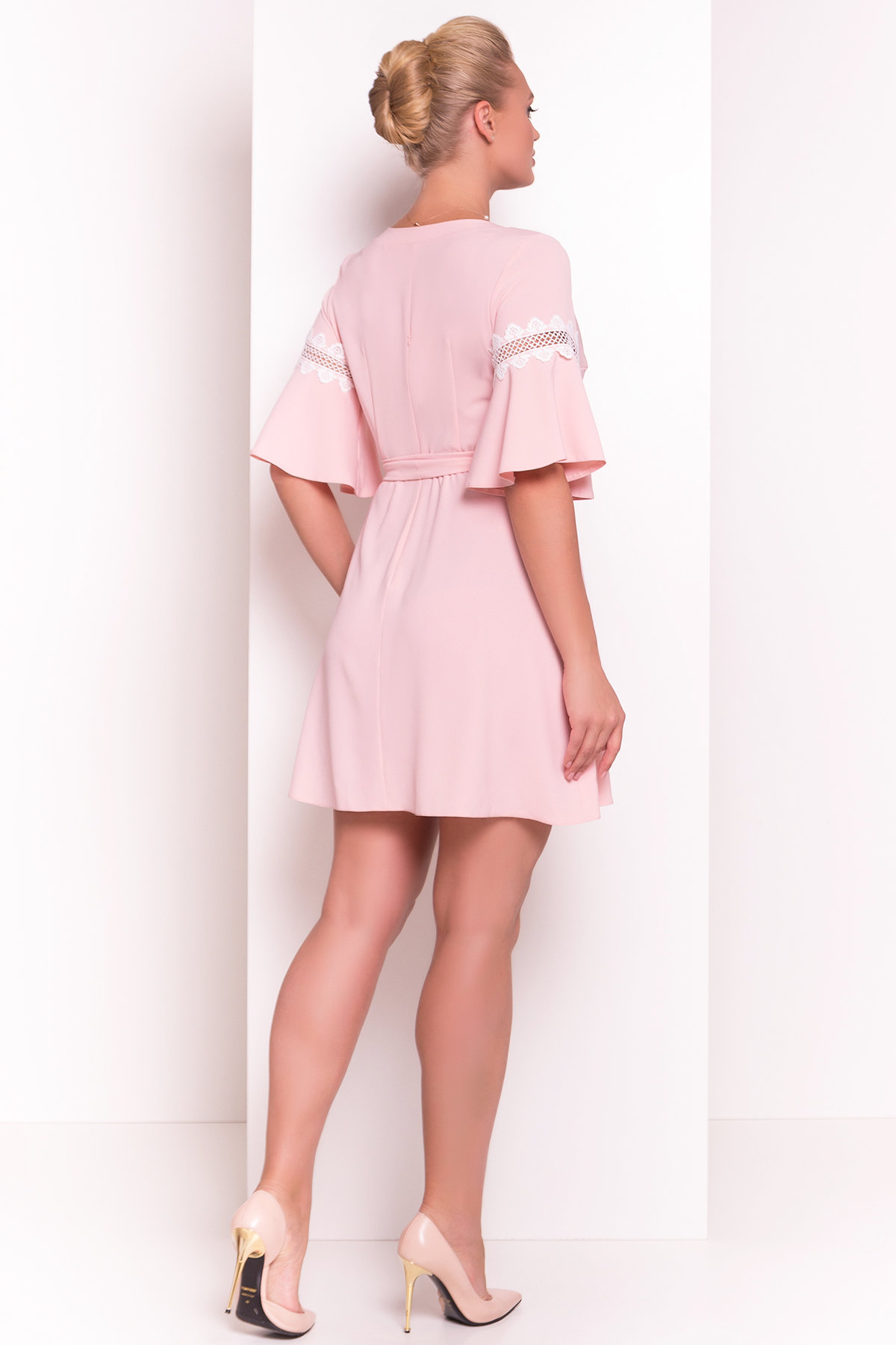 Платье Аделина Donna 5026 АРТ. 35523 Цвет: Персик - фото 3, интернет магазин tm-modus.ru