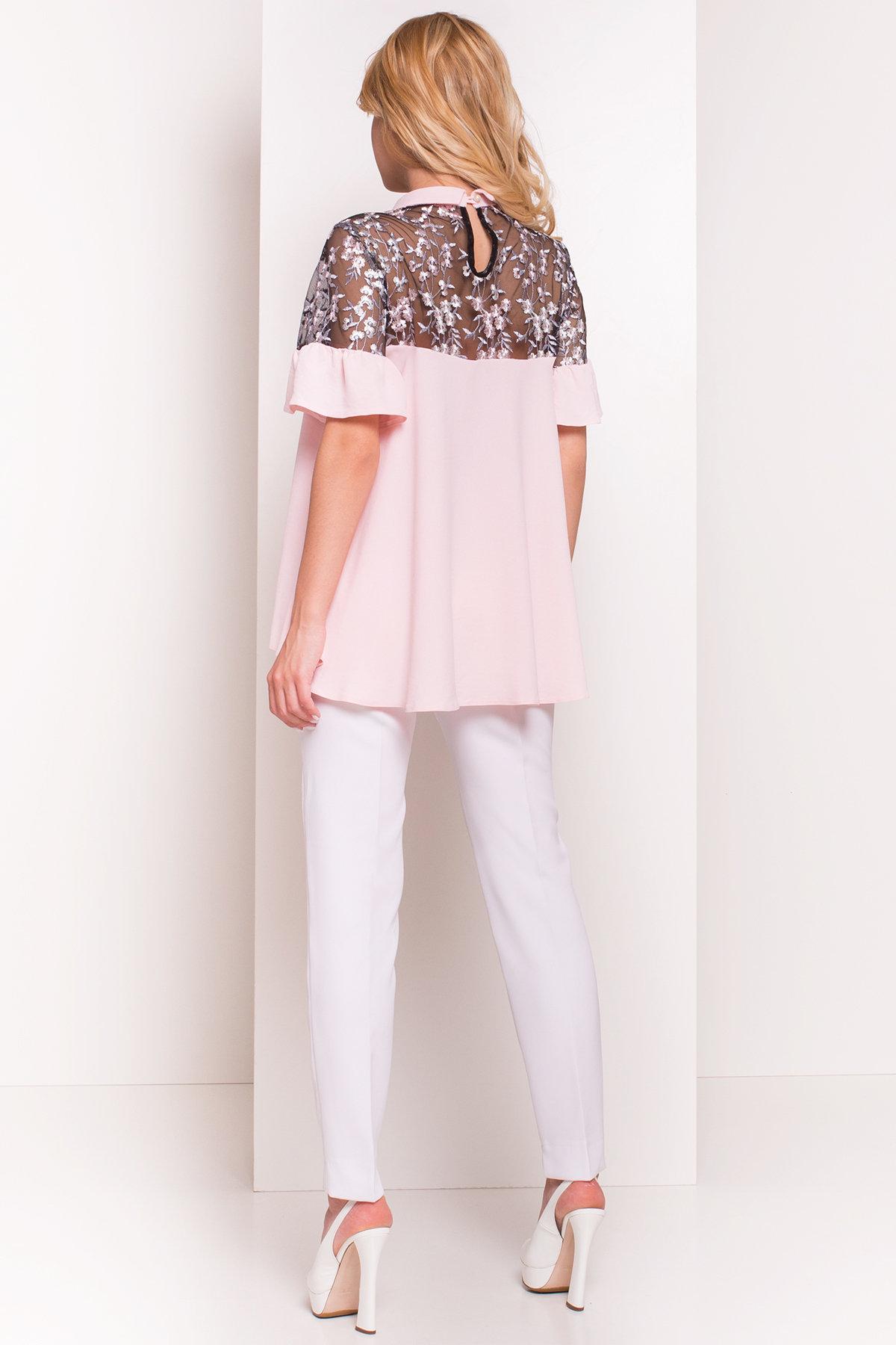 Блуза Джету 5127 АРТ. 36001 Цвет: Розовый Светлый - фото 2, интернет магазин tm-modus.ru