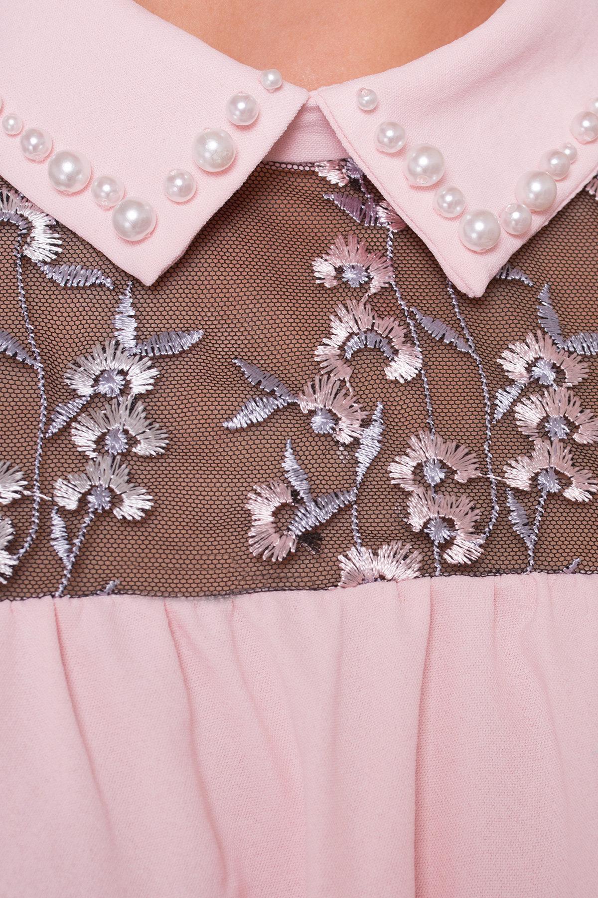 Блуза Джету 5127 АРТ. 36001 Цвет: Розовый Светлый - фото 4, интернет магазин tm-modus.ru