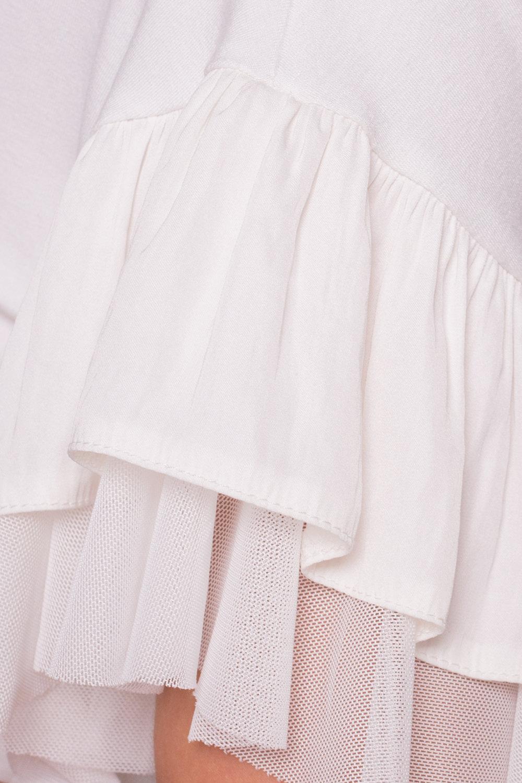 Блуза Ланта 5076 АРТ. 35628 Цвет: Молоко - фото 4, интернет магазин tm-modus.ru