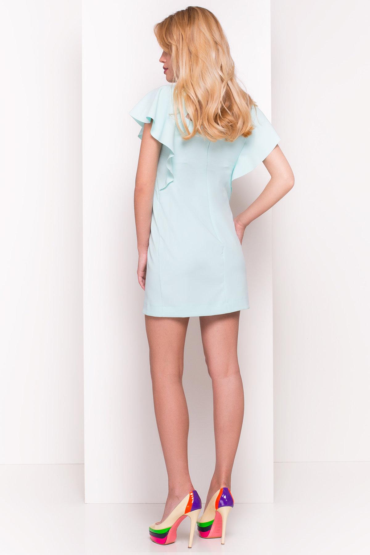 Платье с короткими рукавами летучая мышь Айла  4878 АРТ. 34967 Цвет: Мята - фото 2, интернет магазин tm-modus.ru