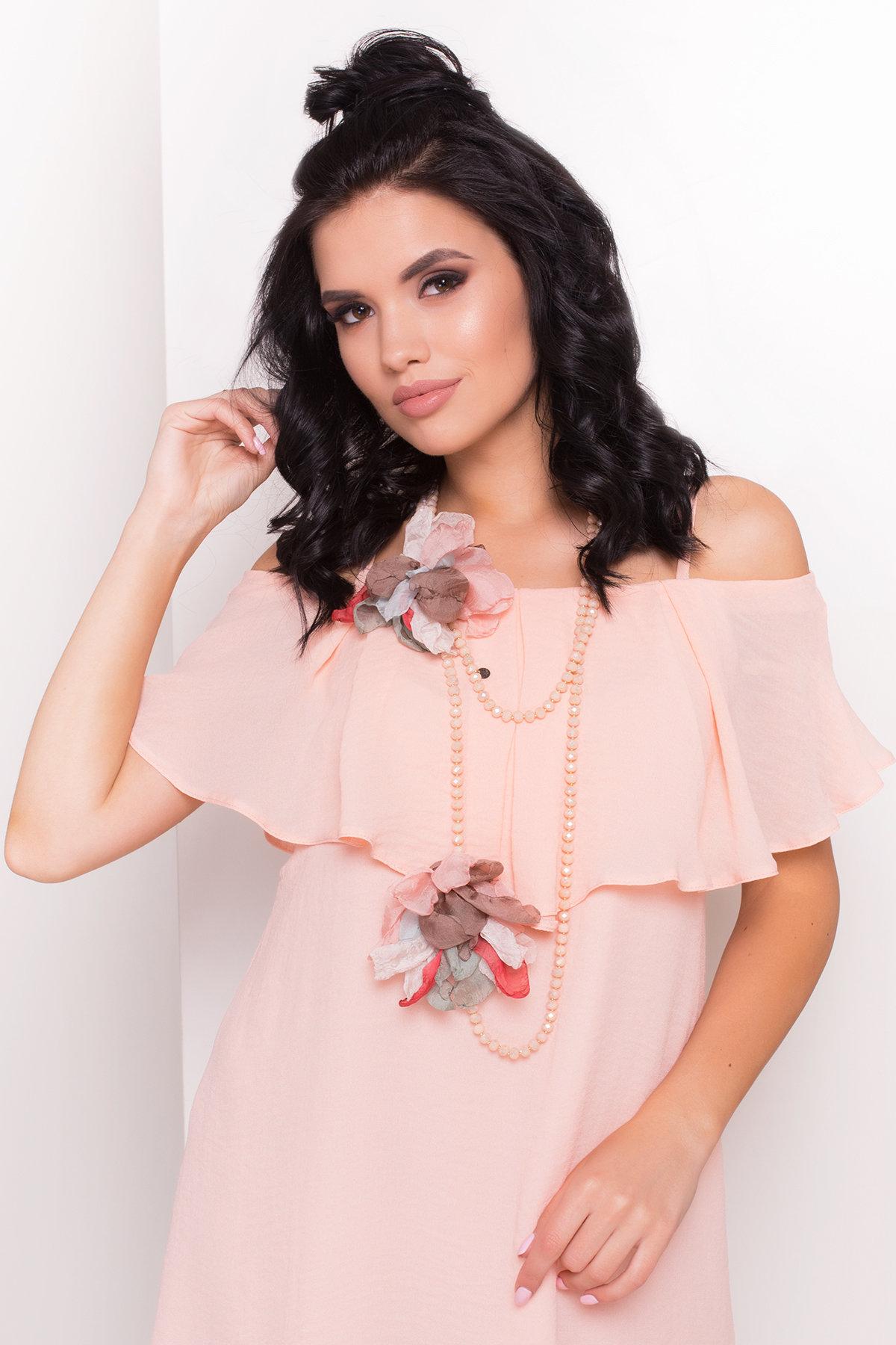 TW Платье Восток 5123 АРТ. 35862 Цвет: Персик - фото 3, интернет магазин tm-modus.ru