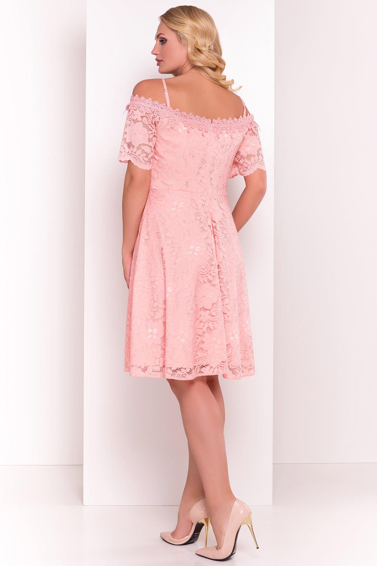 Платье Виола Donna 5059 АРТ. 35714 Цвет: Персик - фото 3, интернет магазин tm-modus.ru