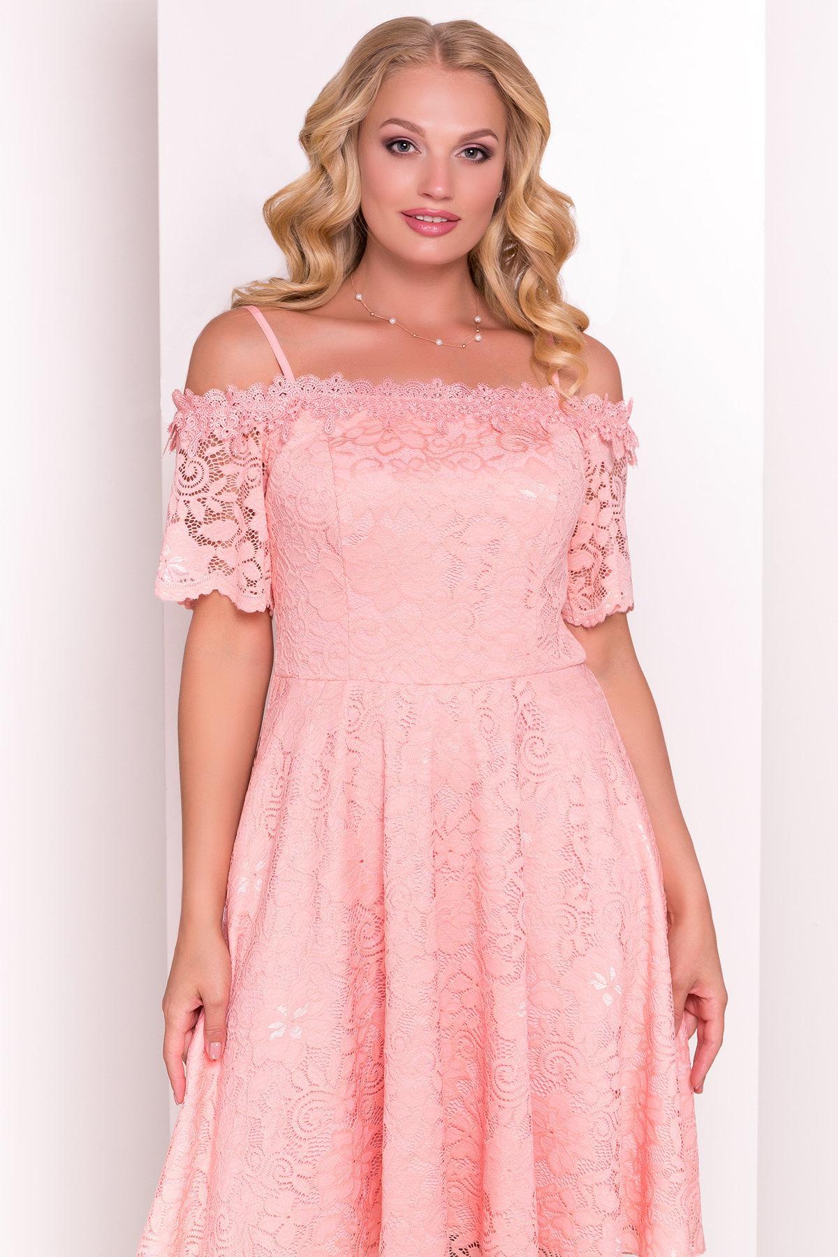 Платье Виола Donna 5059 АРТ. 35714 Цвет: Персик - фото 2, интернет магазин tm-modus.ru