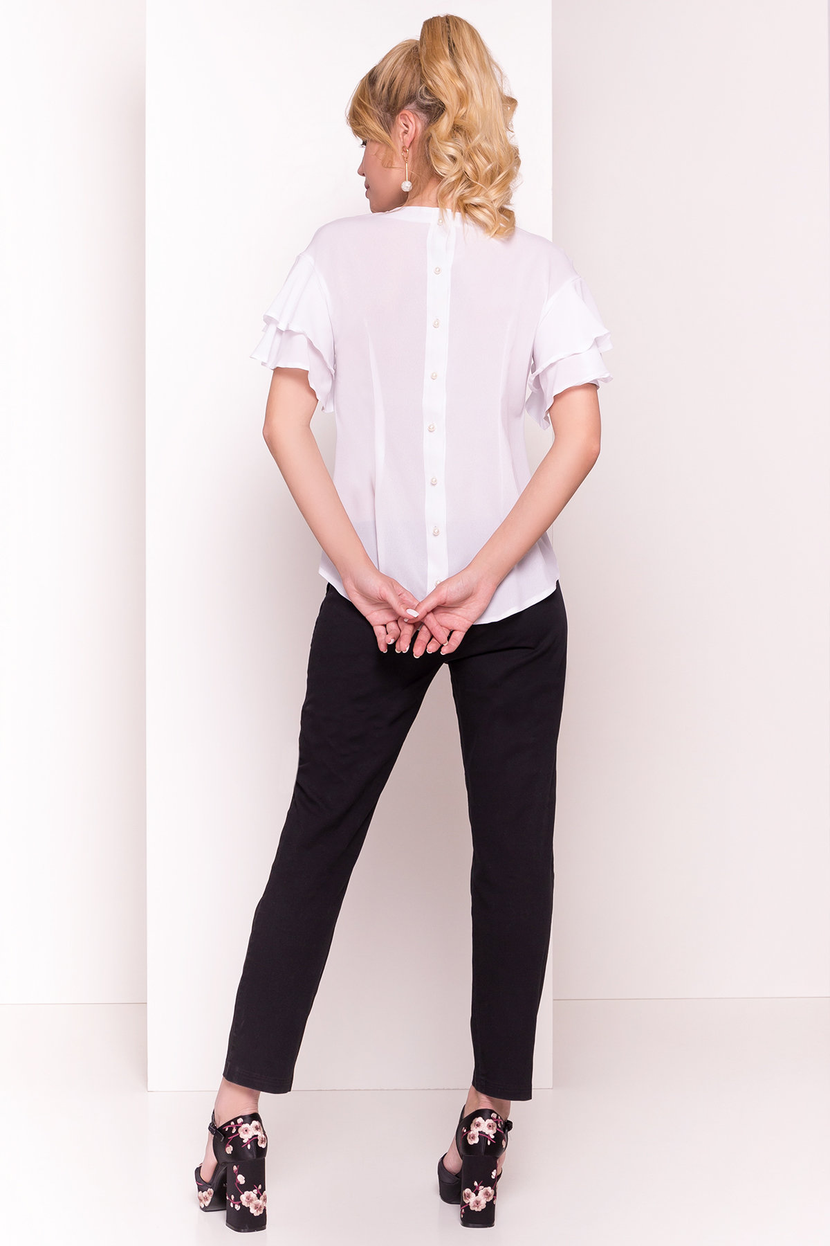 Блуза Мария 4882 АРТ. 35800 Цвет: Белый - фото 3, интернет магазин tm-modus.ru