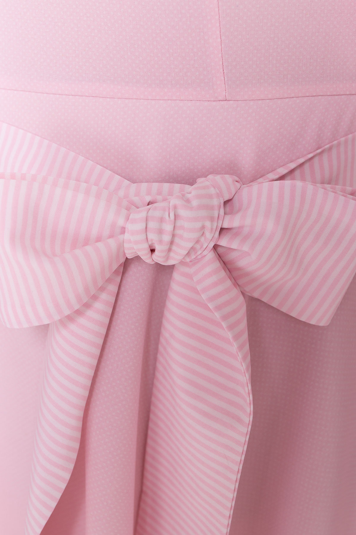 Платье Виолетта 4984 Цвет: Розовый/молоко горох 1