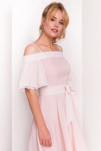 Платье Виолетта 4984 Цвет: Пудра/молоко горох 1