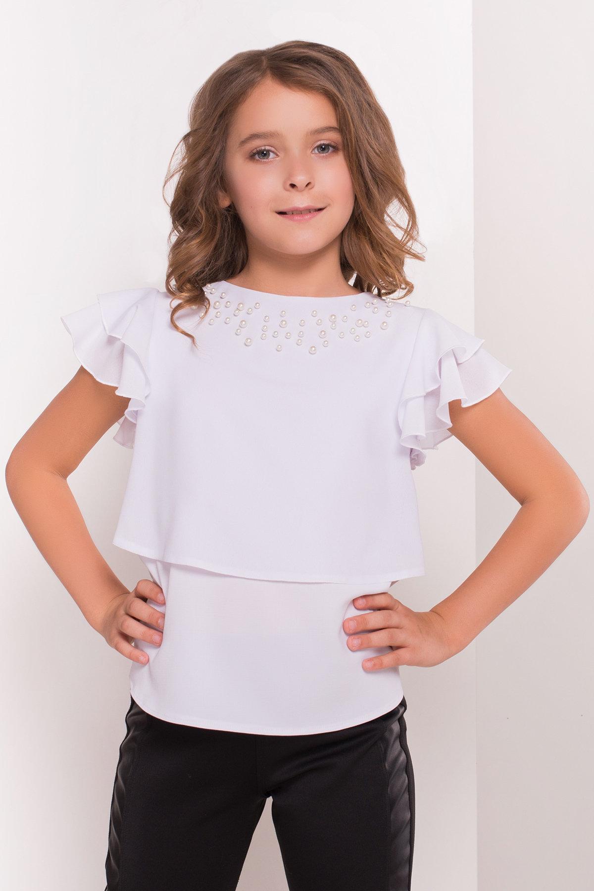Блуза детская Иксора 5195 Цвет: Белый