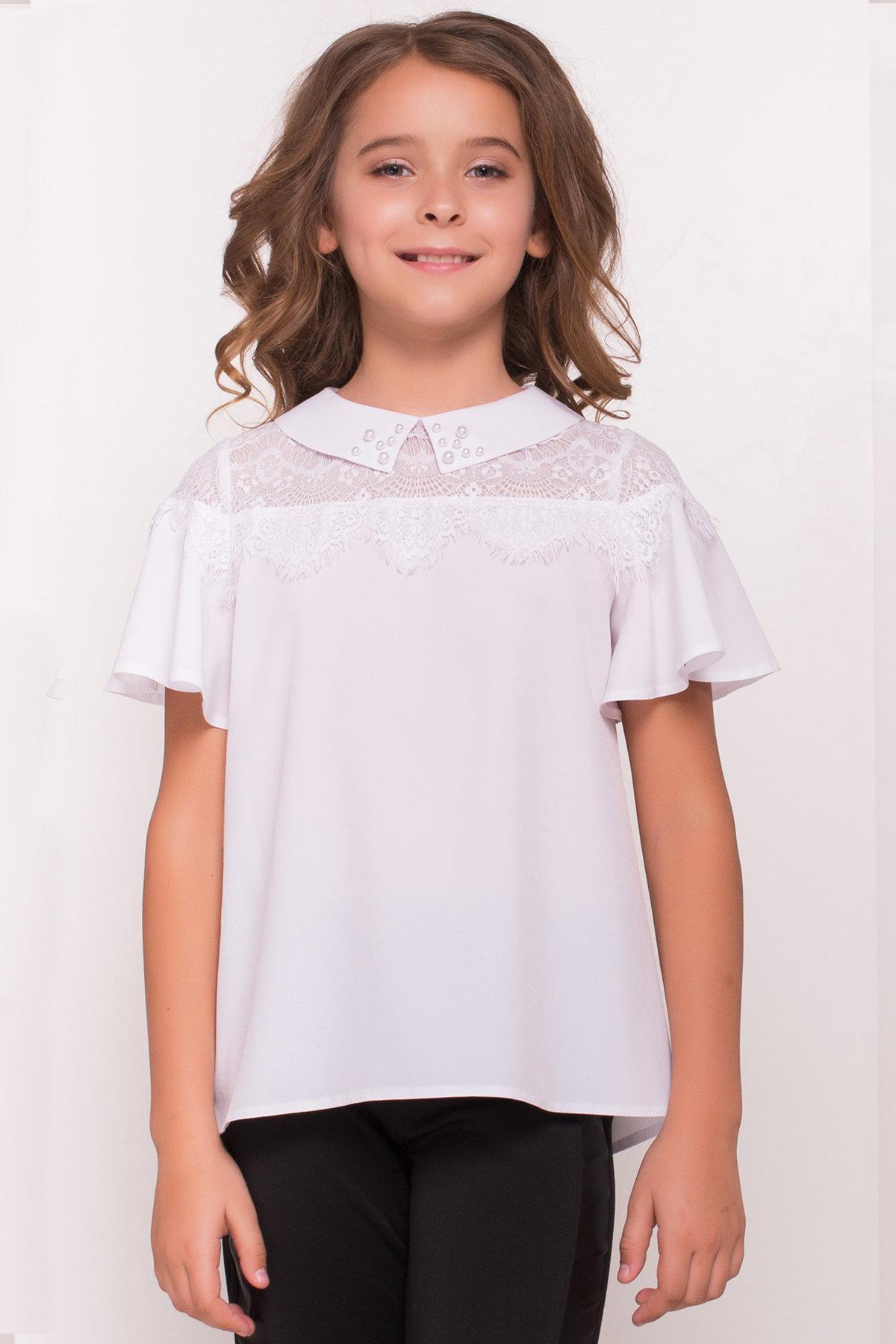 Блузка детская Ореанда 5193 АРТ. 36280 Цвет: Белый - фото 1, интернет магазин tm-modus.ru