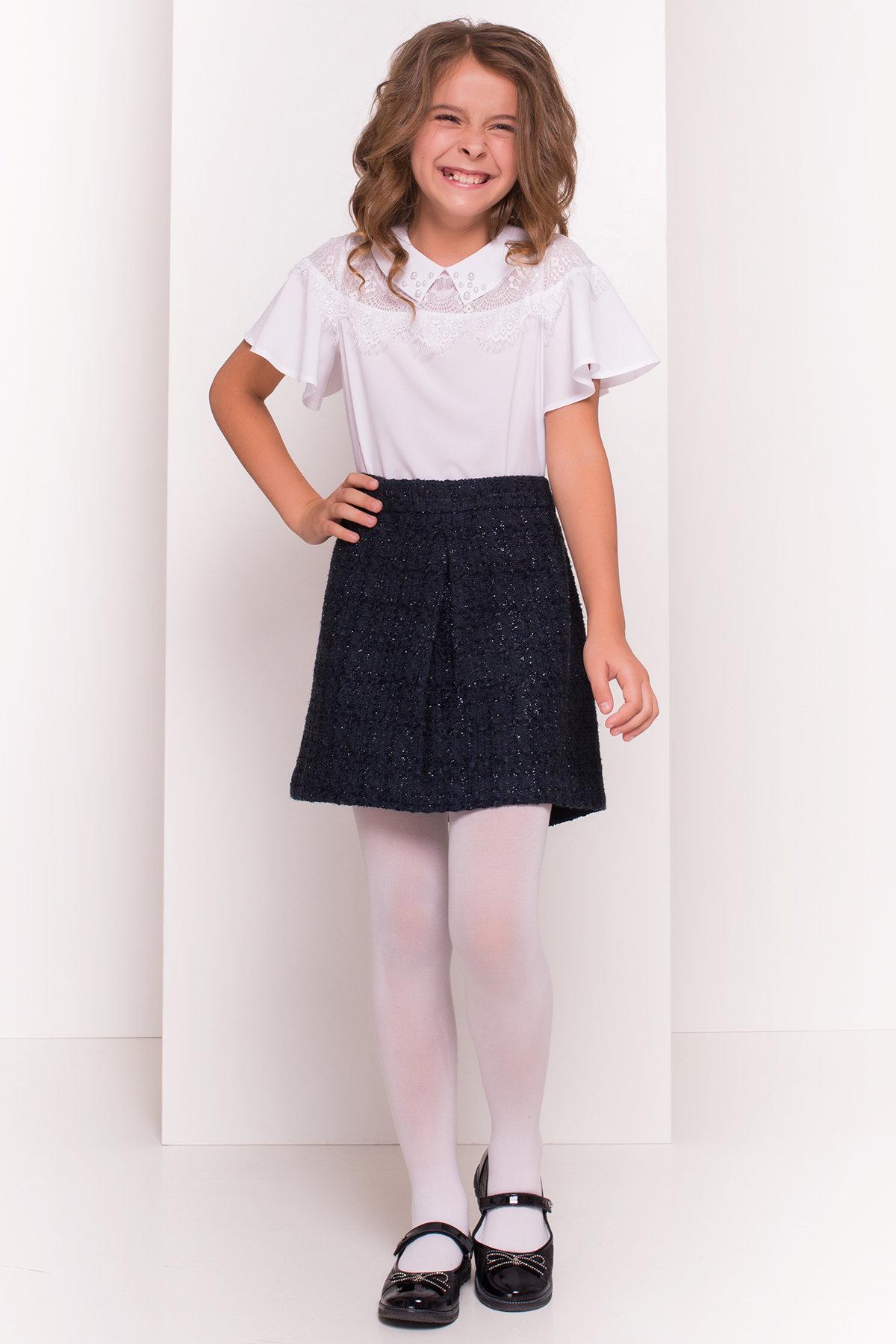 Блузка детская Ореанда 5193 АРТ. 36280 Цвет: Белый - фото 2, интернет магазин tm-modus.ru