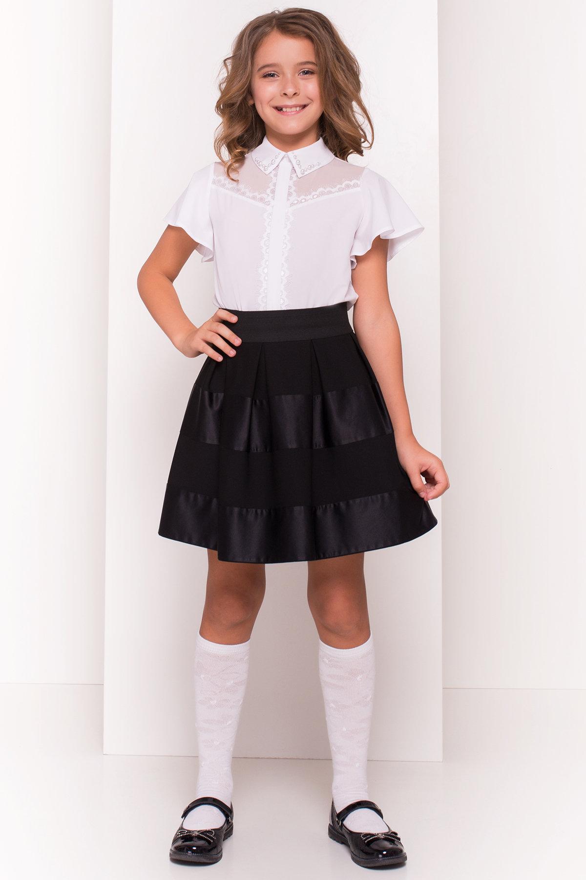 Блуза детская Зира 5135 АРТ. 36285 Цвет: Белый - фото 3, интернет магазин tm-modus.ru