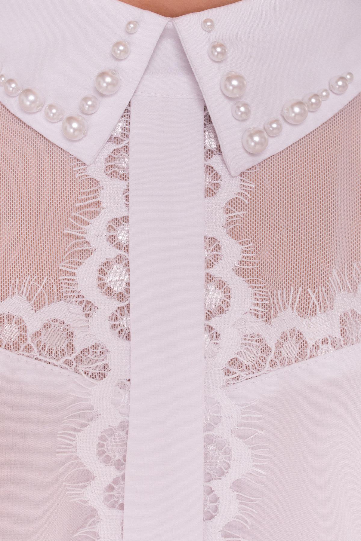 Блуза детская Зира 5135 АРТ. 36285 Цвет: Белый - фото 5, интернет магазин tm-modus.ru
