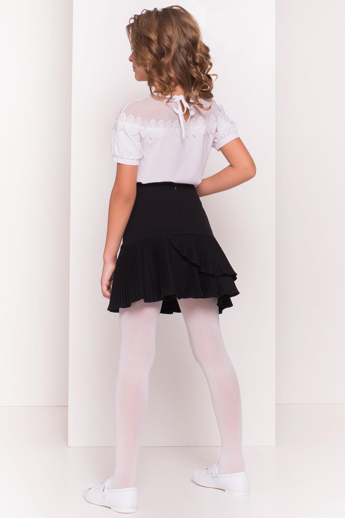 Блуза детская Герда 5197 АРТ. 36284 Цвет: Белый - фото 3, интернет магазин tm-modus.ru