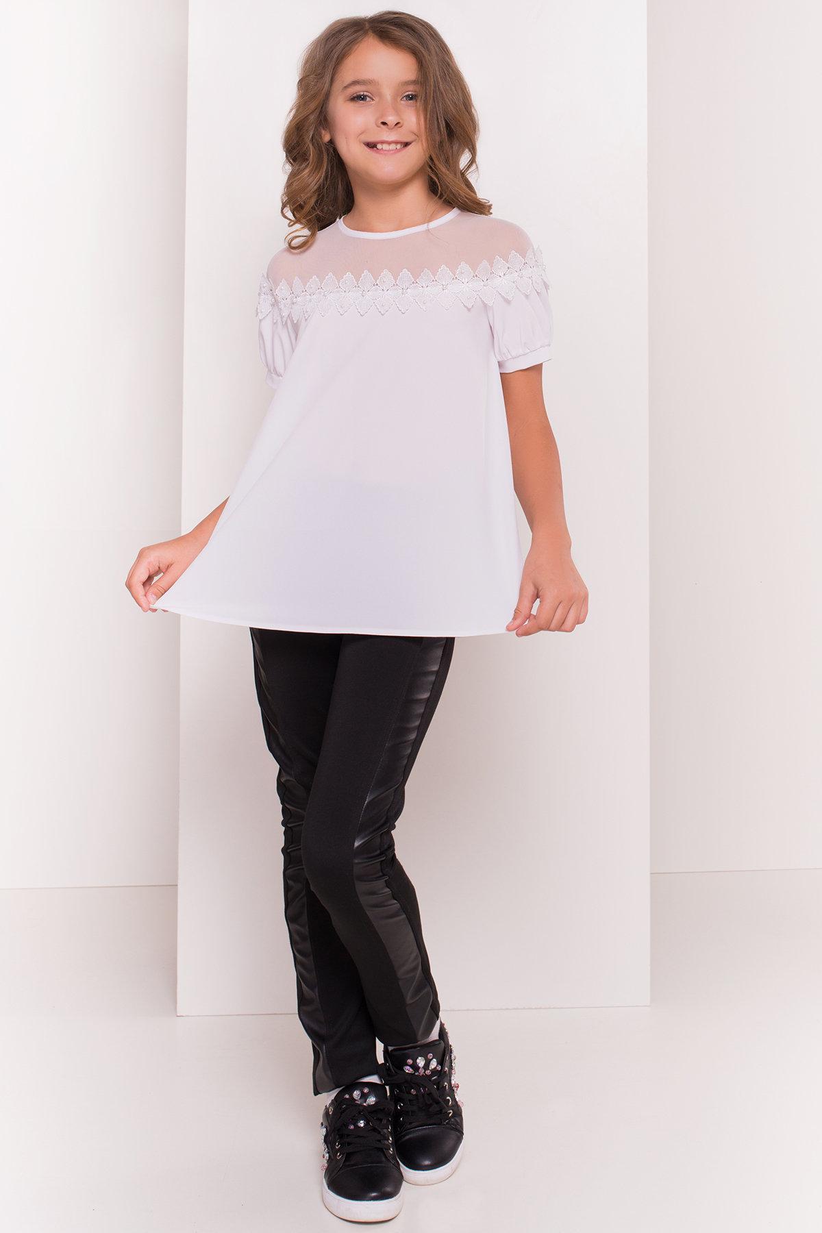 Блуза детская Герда 5197 АРТ. 36284 Цвет: Белый - фото 4, интернет магазин tm-modus.ru