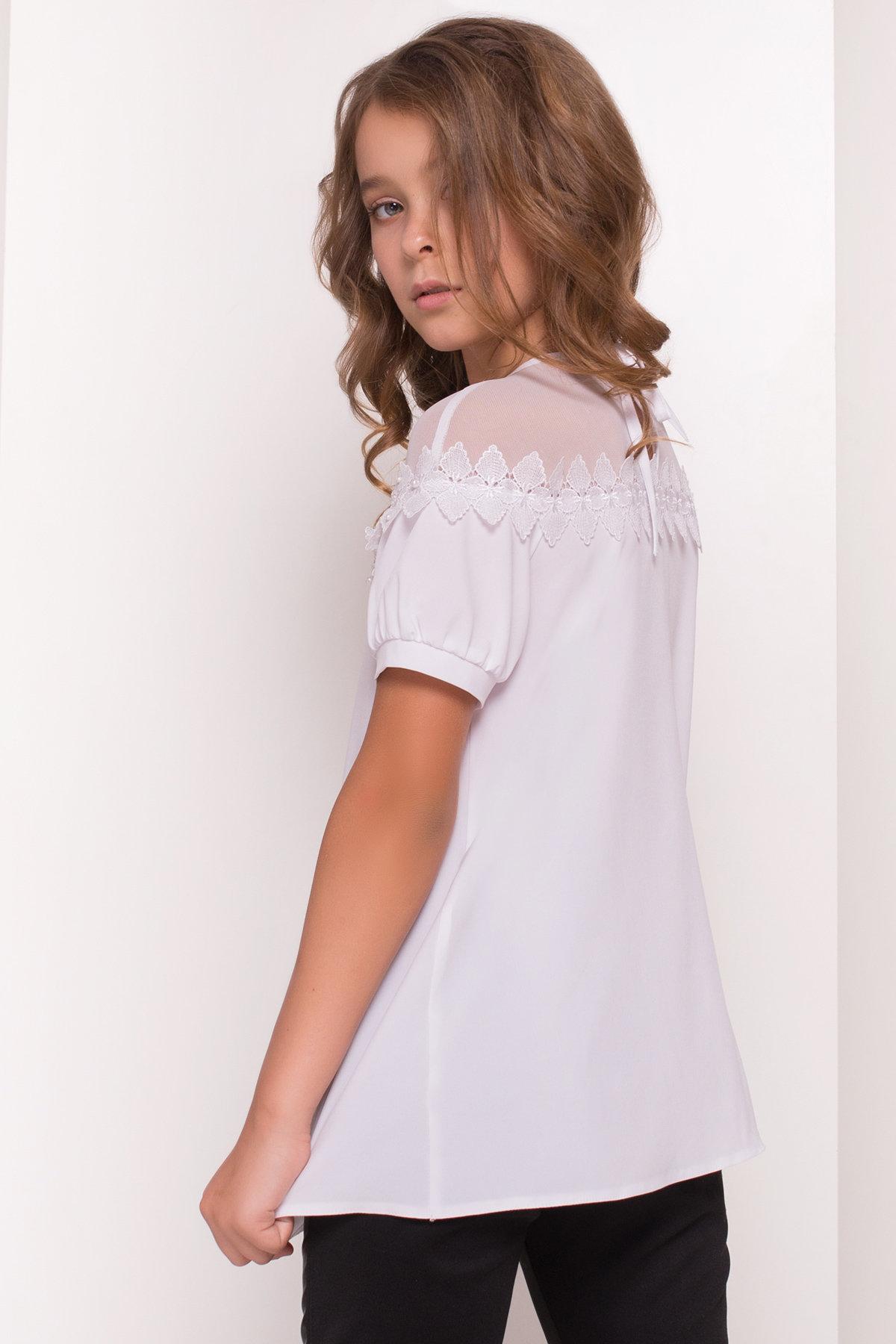 Блуза детская Герда 5197 АРТ. 36284 Цвет: Белый - фото 5, интернет магазин tm-modus.ru