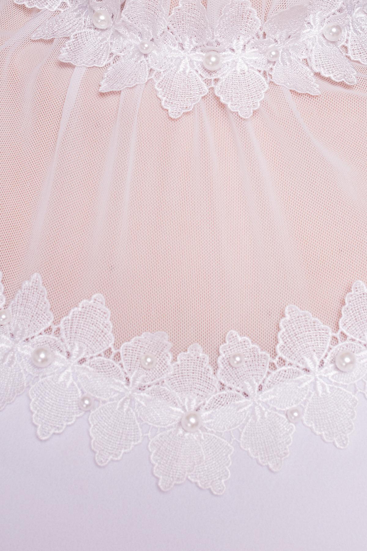 Блуза свободного кроя с воротником - жабо Буше 5189 Цвет: Белый