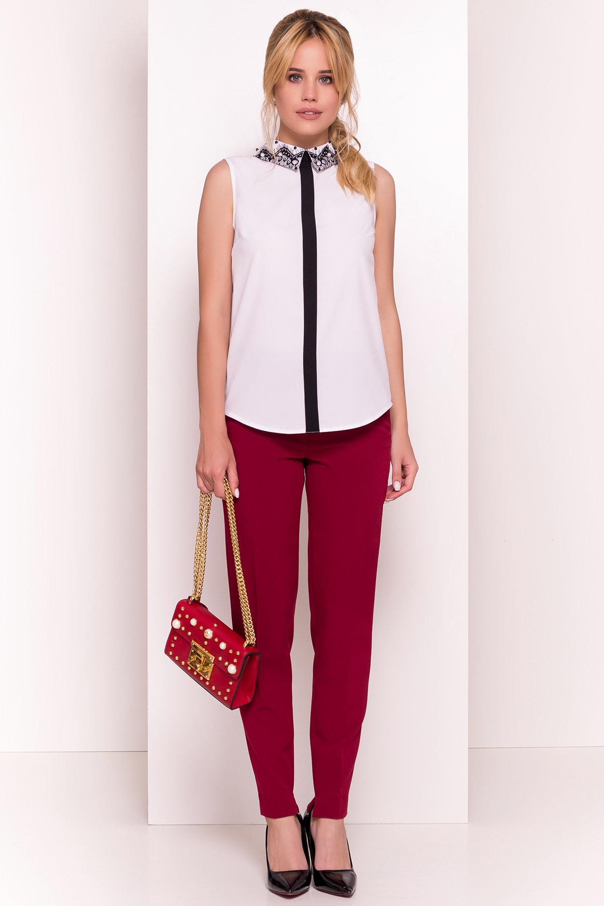 Блузка с вертикальной вставкой Мурия 5220 АРТ. 36304 Цвет: Белый - фото 3, интернет магазин tm-modus.ru