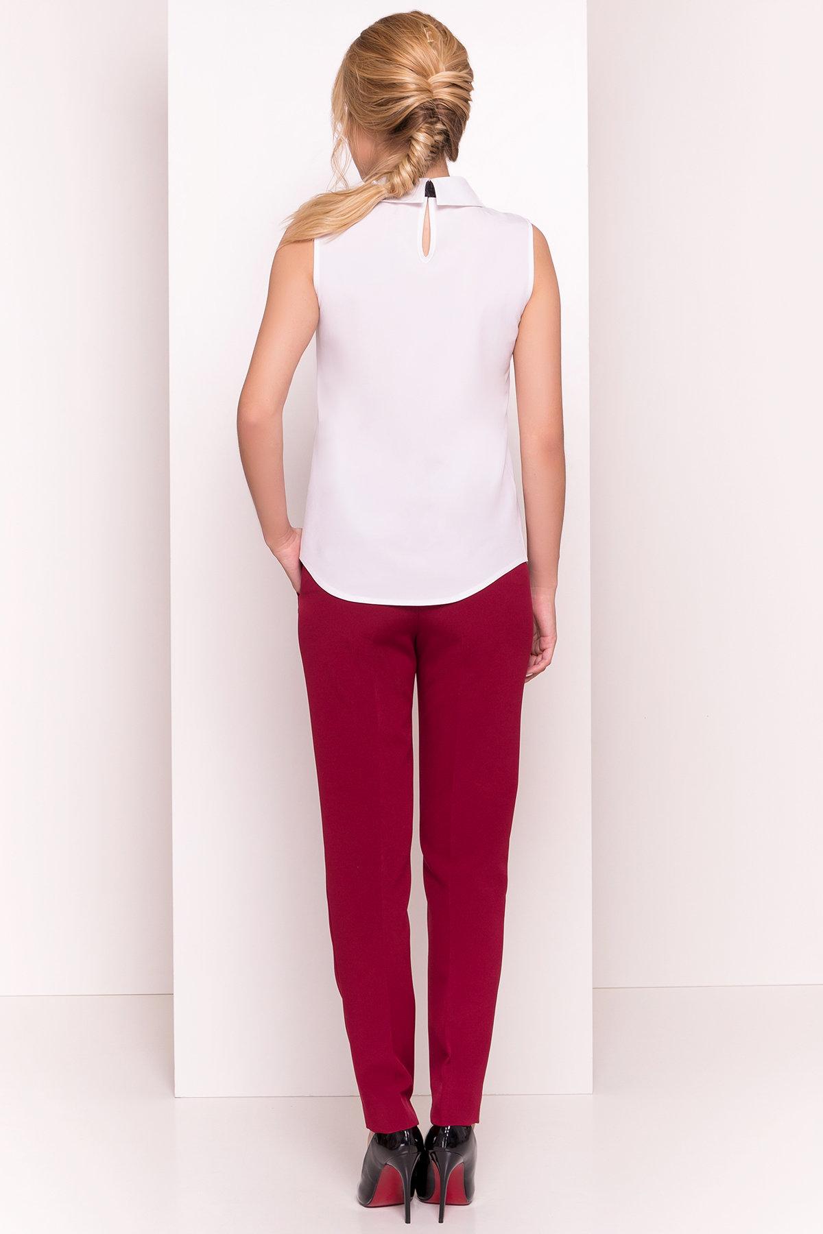Блузка с вертикальной вставкой Мурия 5220 АРТ. 36304 Цвет: Белый - фото 5, интернет магазин tm-modus.ru