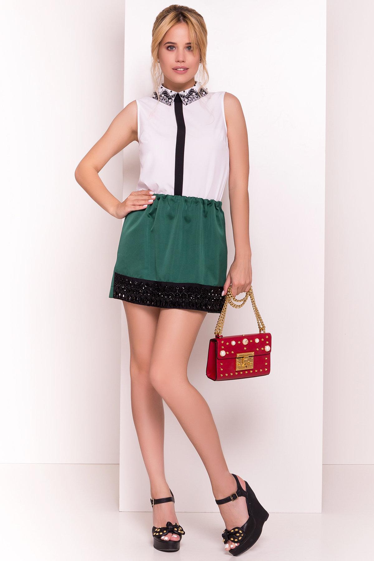 Блузка с вертикальной вставкой Мурия 5220 АРТ. 36304 Цвет: Белый - фото 7, интернет магазин tm-modus.ru