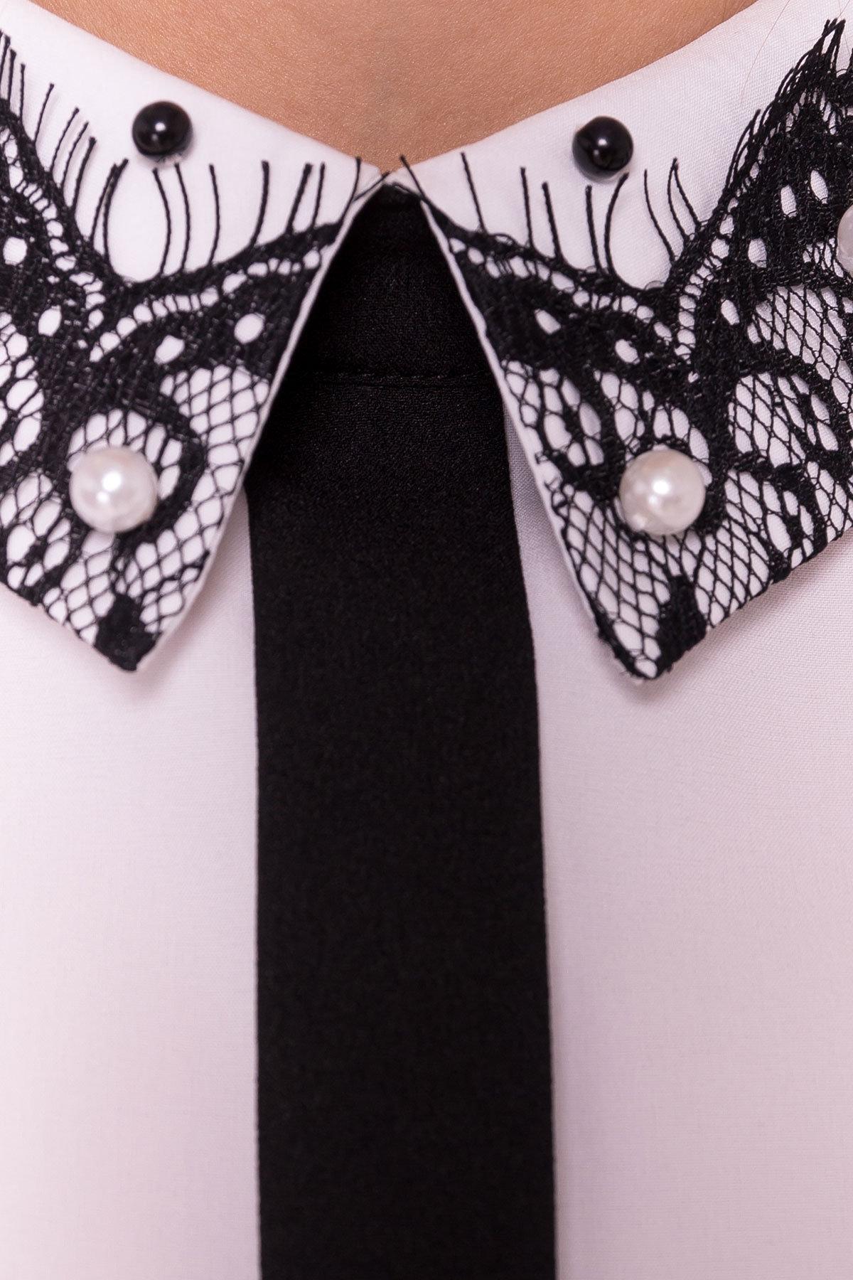 Блузка с вертикальной вставкой Мурия 5220 АРТ. 36304 Цвет: Белый - фото 10, интернет магазин tm-modus.ru