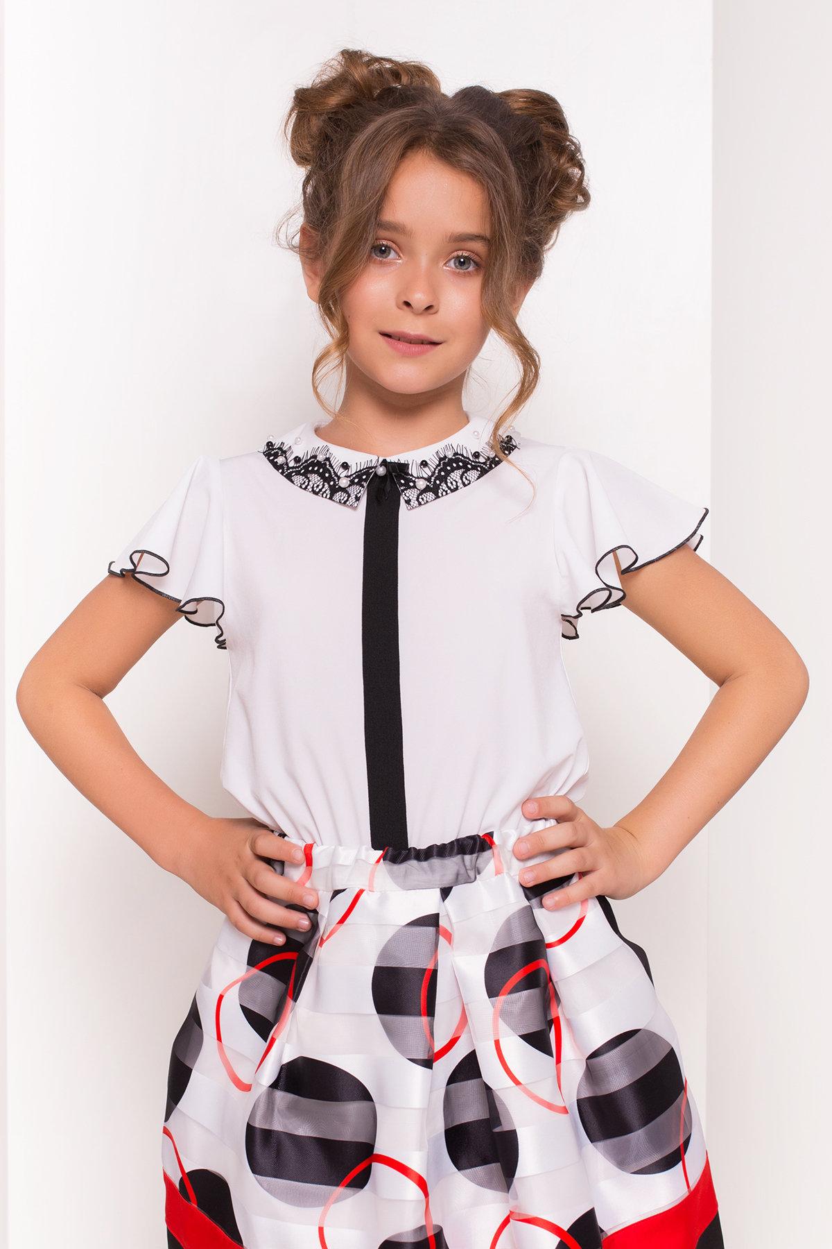 Блуза детская Майя 5264 Цвет: Белый