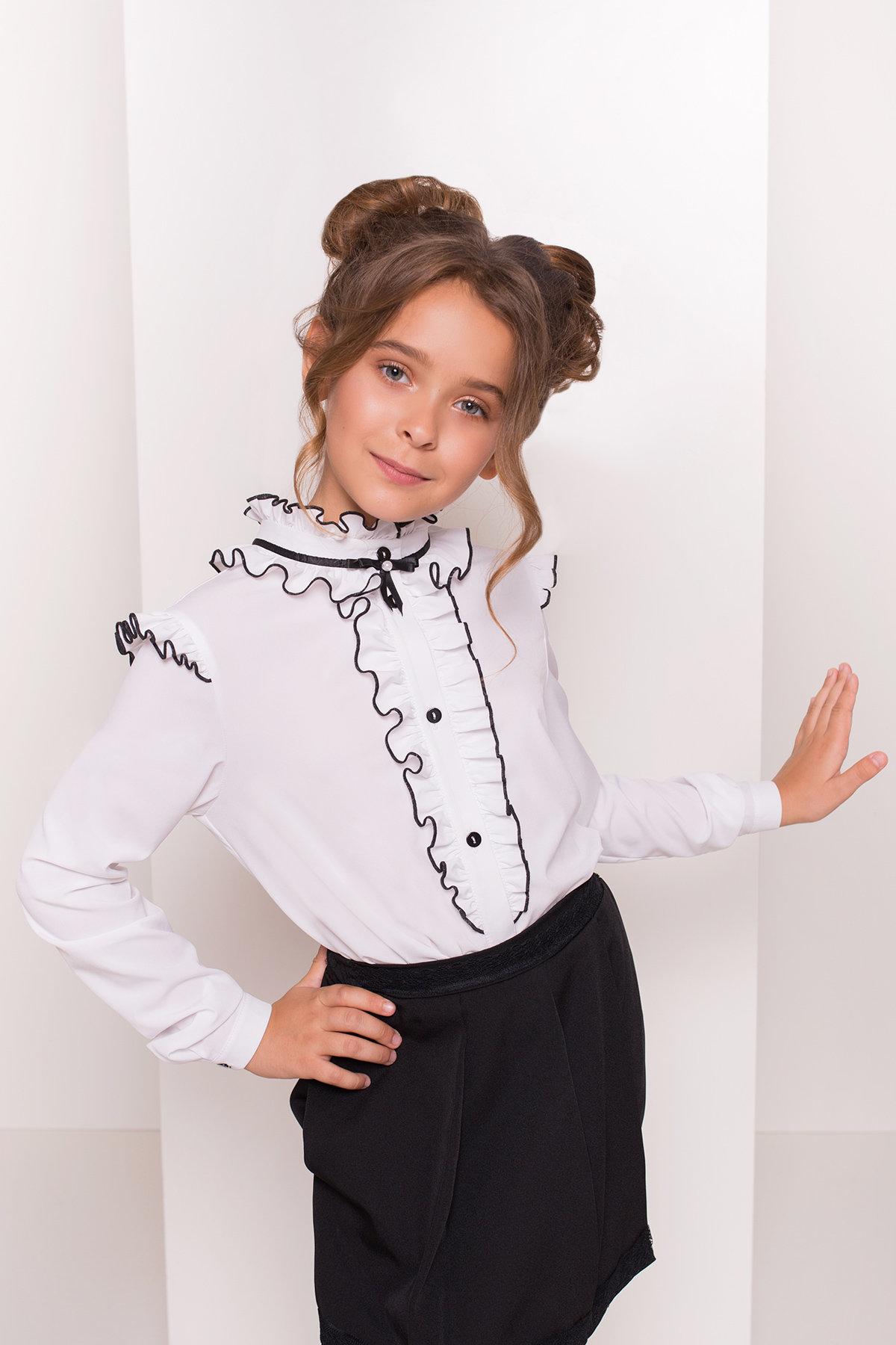 Блуза детская Нури  5174 АРТ. 36163 Цвет: Белый - фото 2, интернет магазин tm-modus.ru