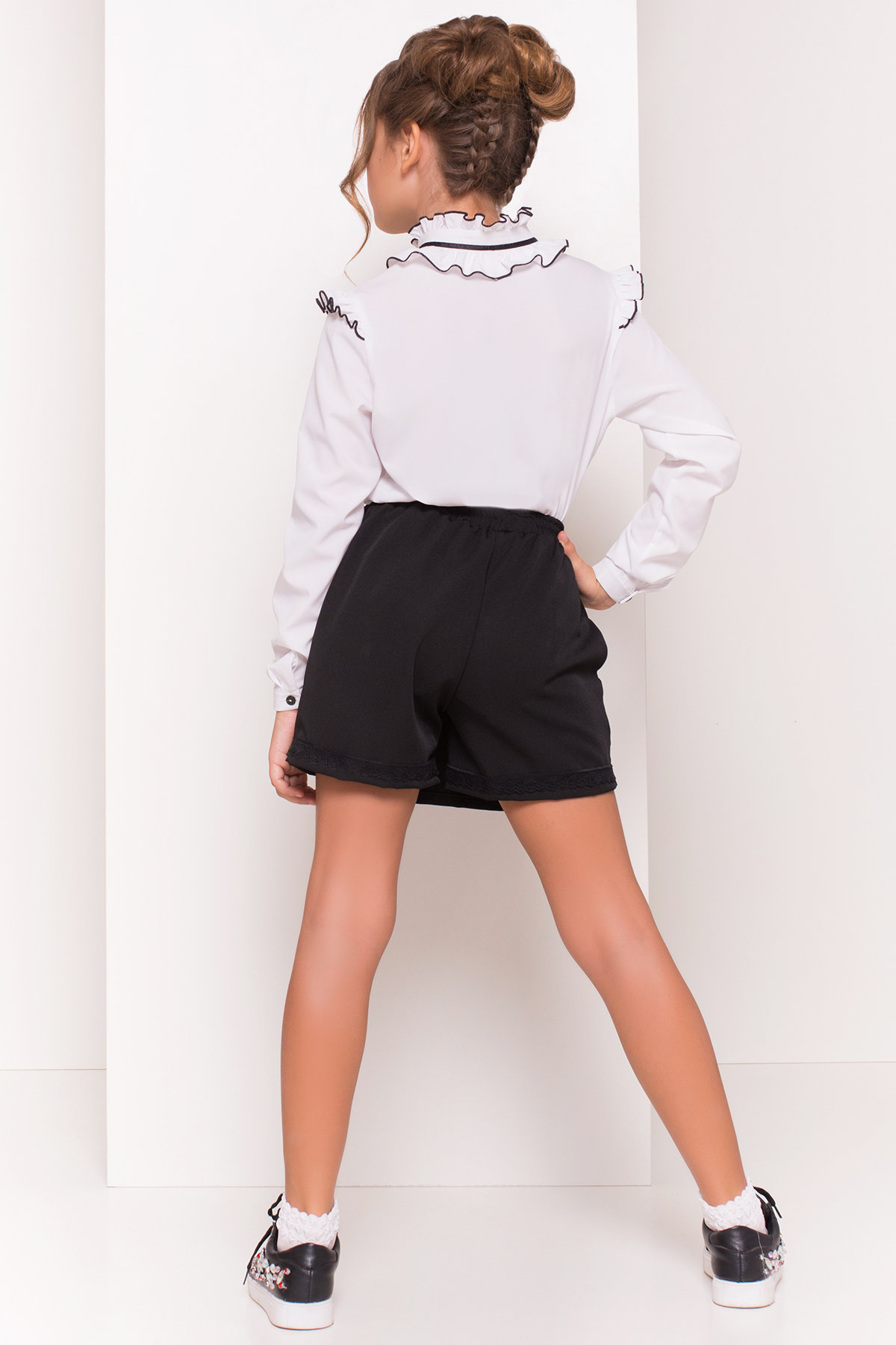Блуза детская Нури  5174 АРТ. 36163 Цвет: Белый - фото 3, интернет магазин tm-modus.ru