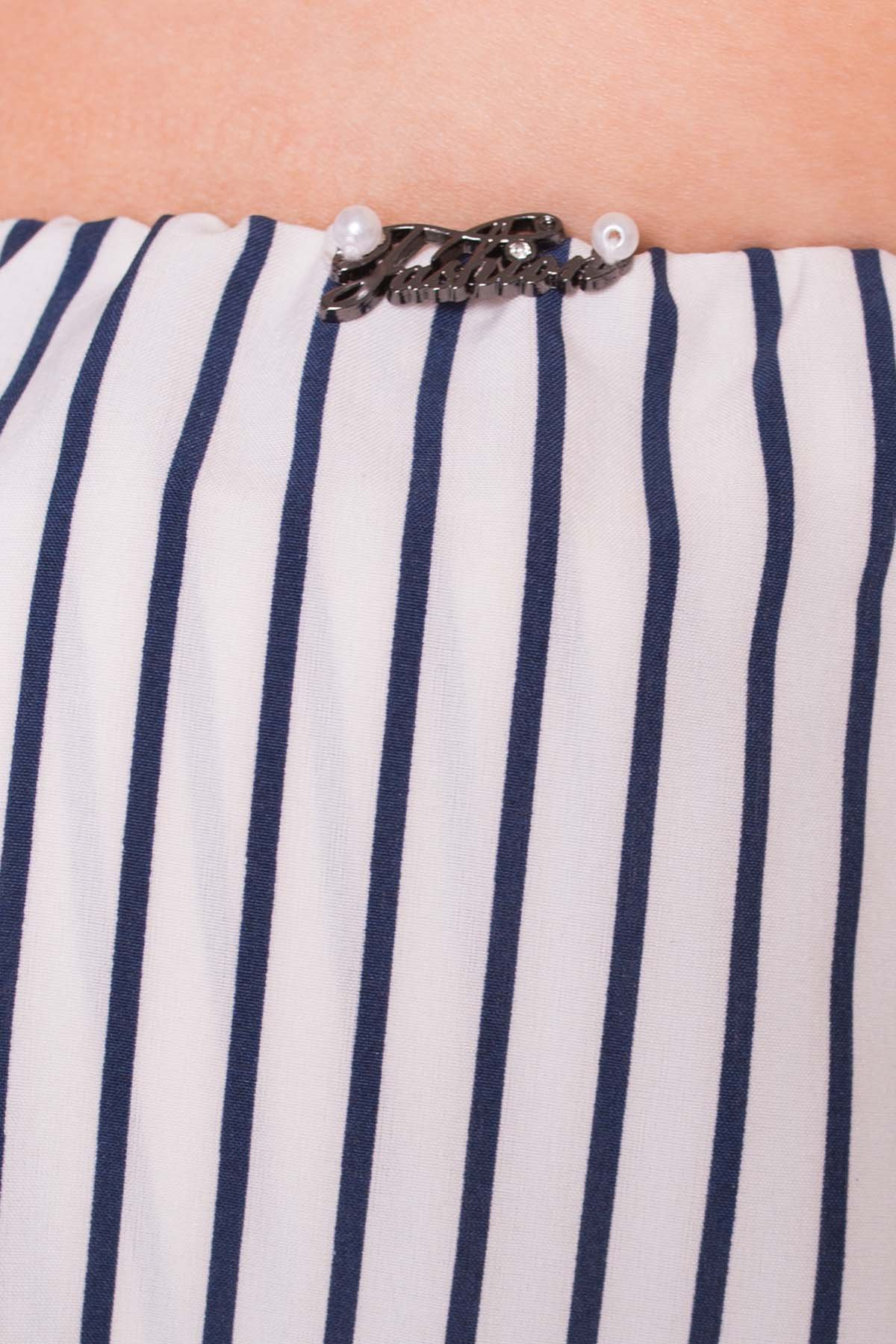 TW Комбинезон Никки  5242 Цвет: Белый/темно-синий полоски