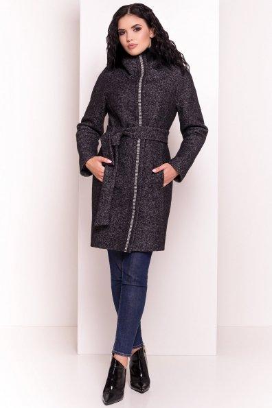 Пальто зима Дакар 4447 Цвет: Черный белый