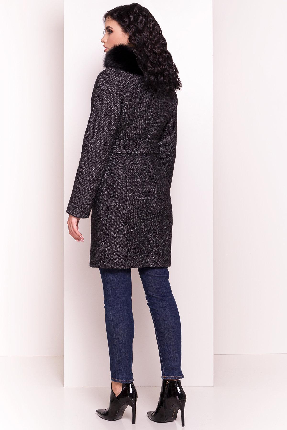 Пальто зима Дакар 4447 АРТ. 5237 Цвет: Черный белый - фото 3, интернет магазин tm-modus.ru