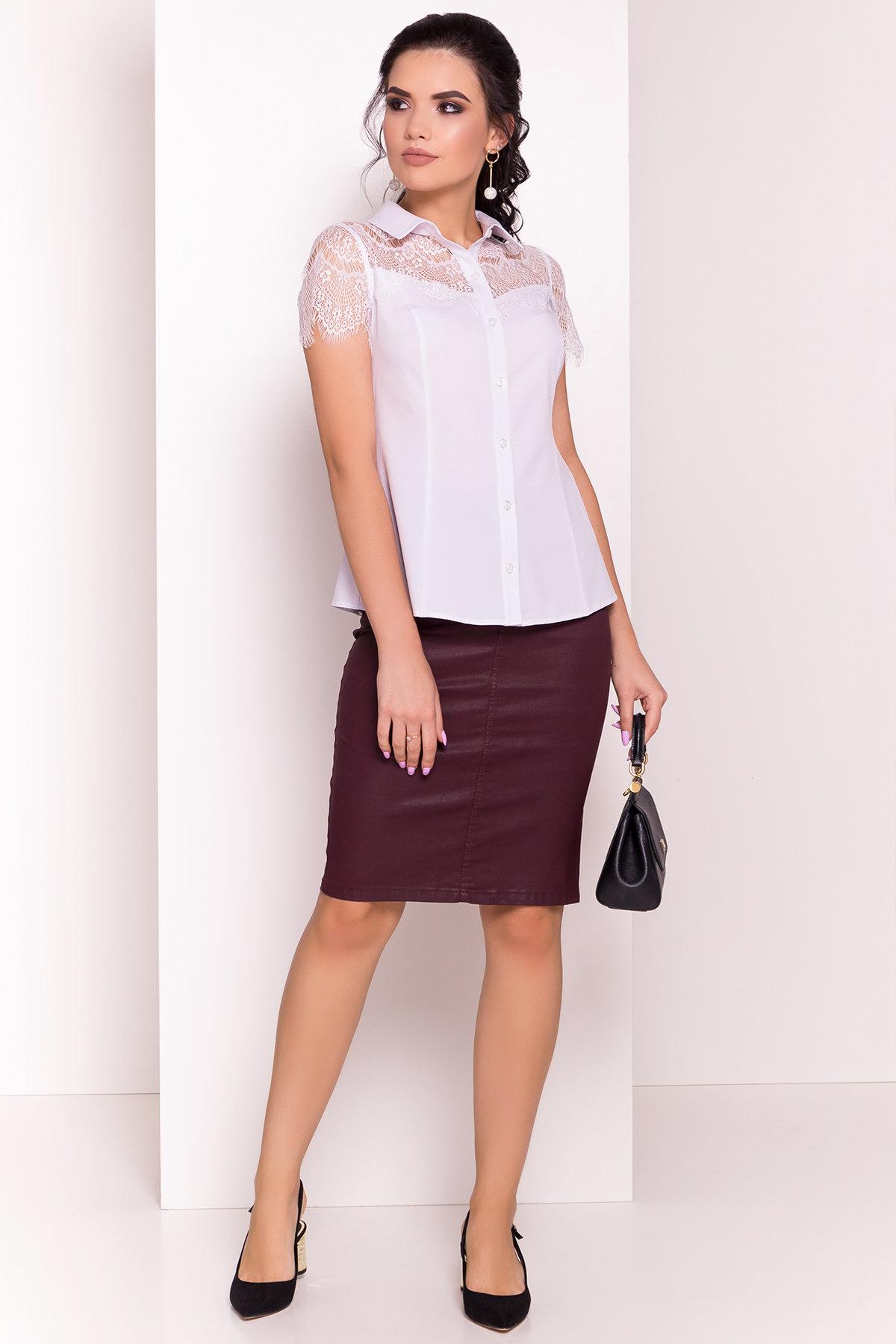 Блуза с кружевным декором Тая 1 5271 Цвет: Белый