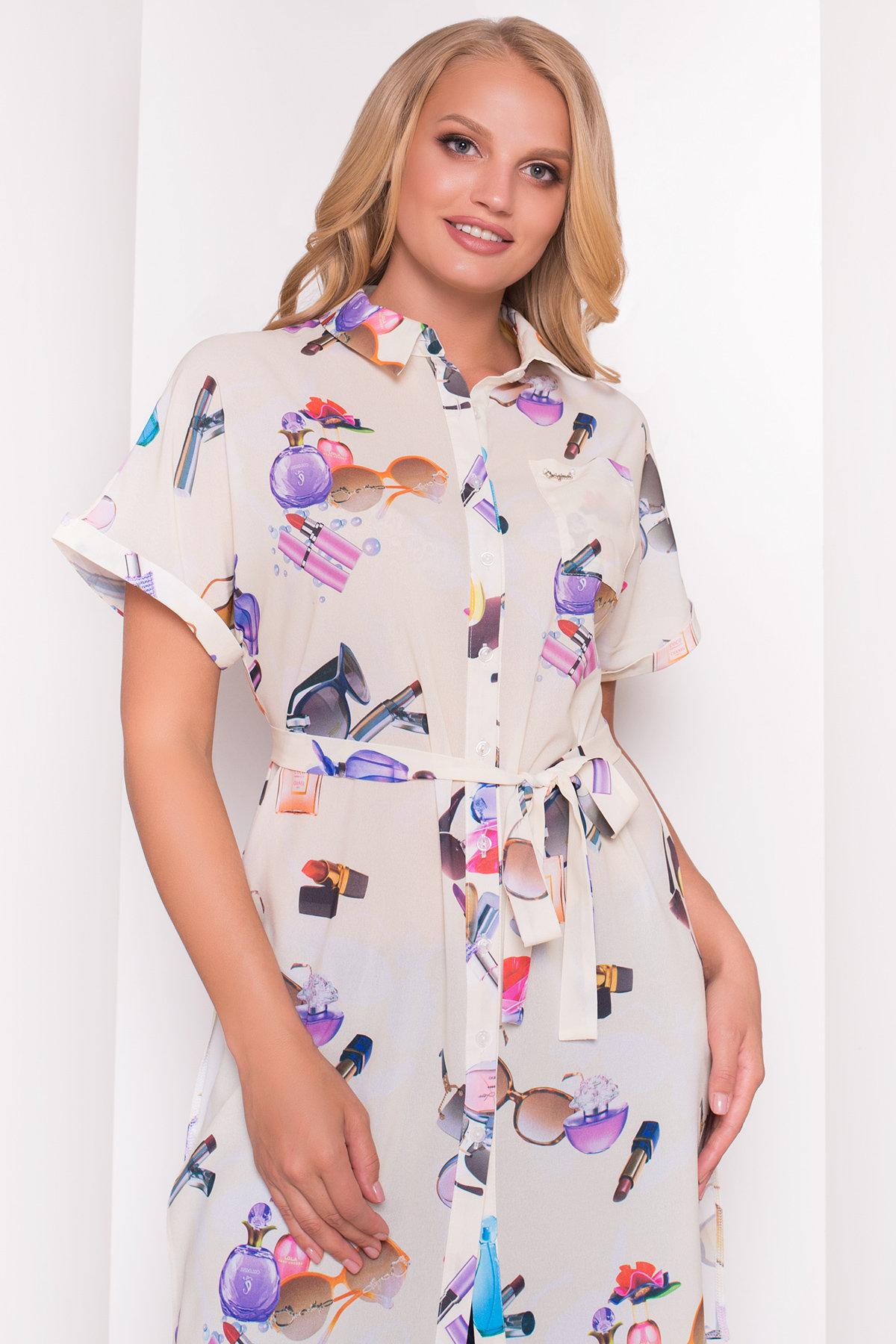 TW Платье -рубашка Шиен Donna 5239 АРТ. 36450 Цвет: Лимон Parfums - фото 2, интернет магазин tm-modus.ru