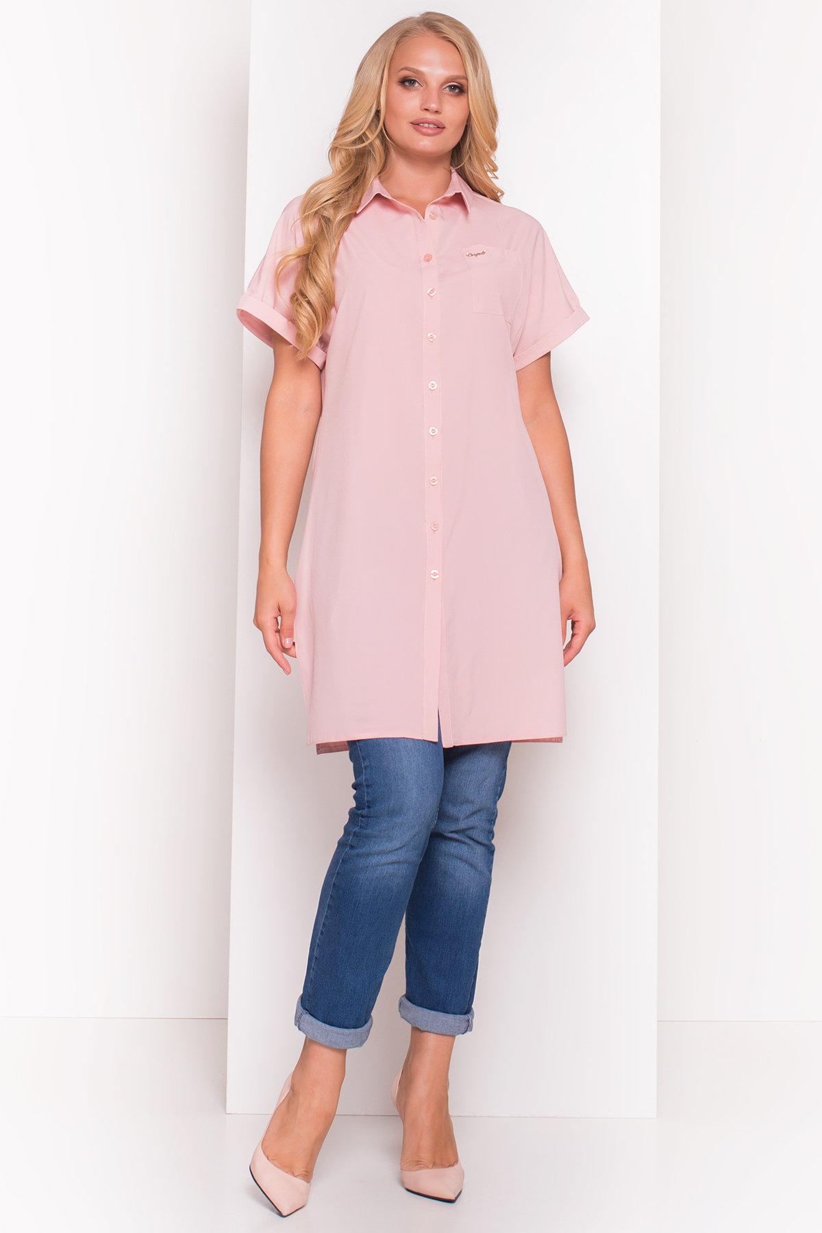 Платье-рубашка Шиен Donna 5088 АРТ. 36129 Цвет: Персик - фото 1, интернет магазин tm-modus.ru