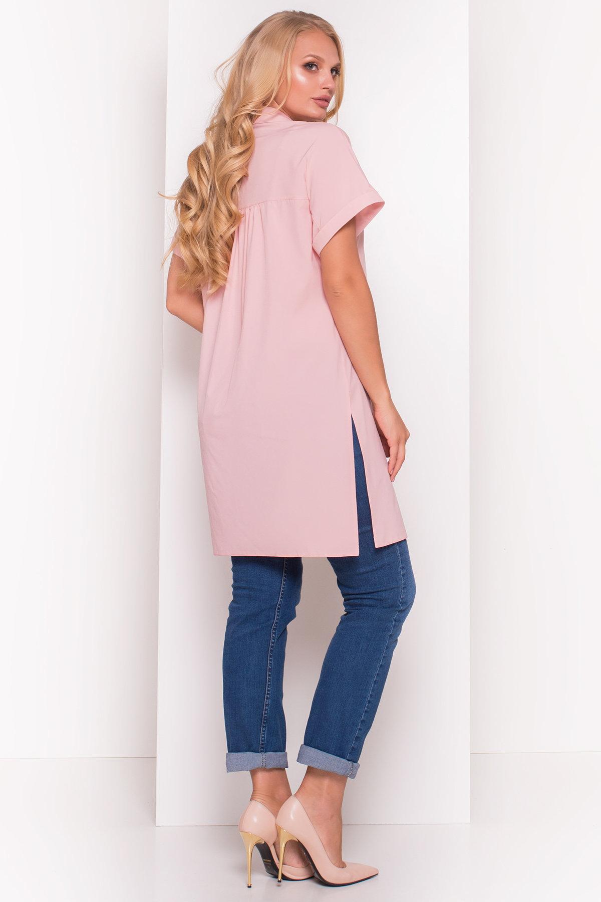 Платье-рубашка Шиен Donna 5088 АРТ. 36129 Цвет: Персик - фото 2, интернет магазин tm-modus.ru