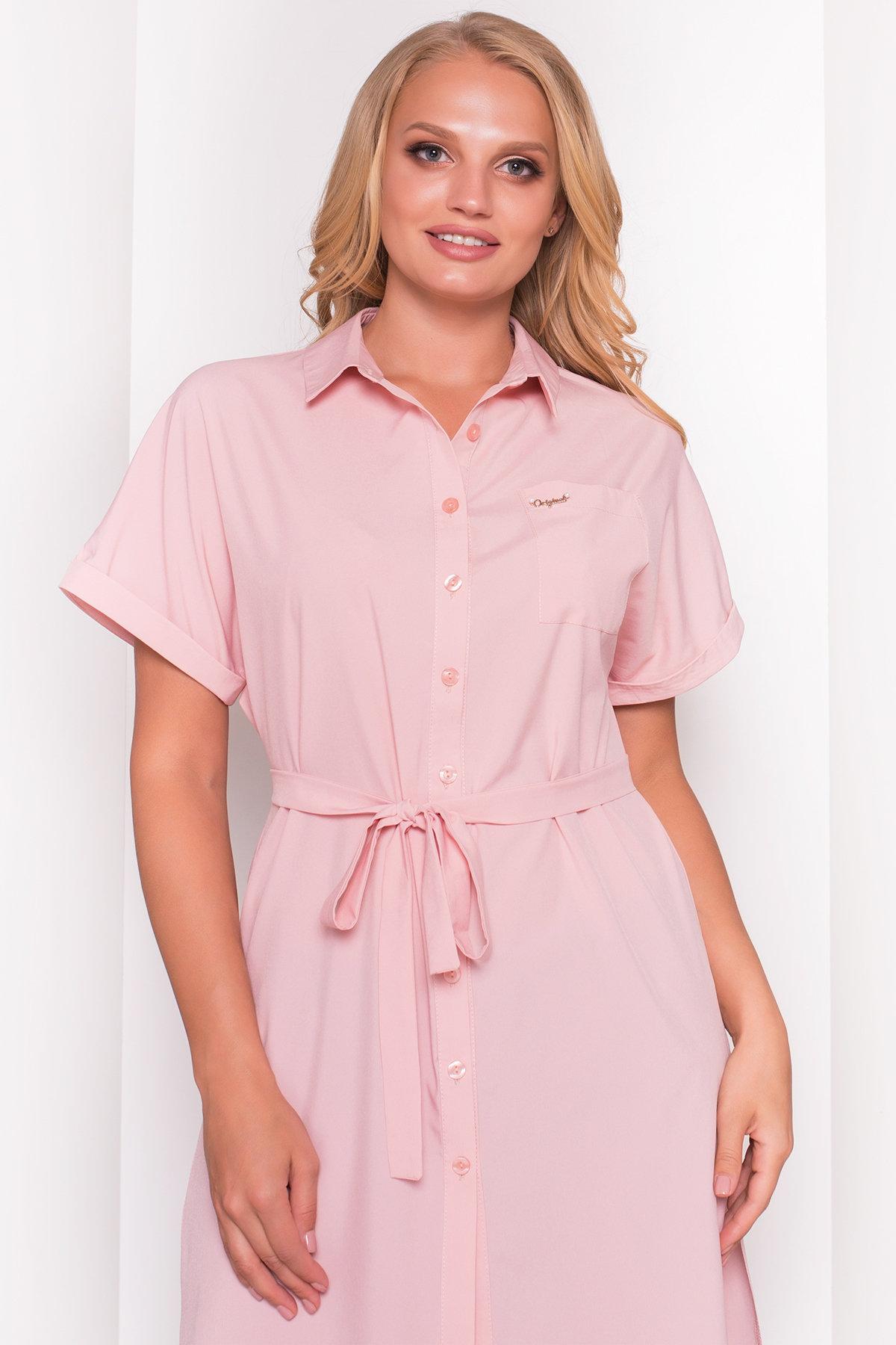 Платье-рубашка Шиен Donna 5088 АРТ. 36129 Цвет: Персик - фото 4, интернет магазин tm-modus.ru