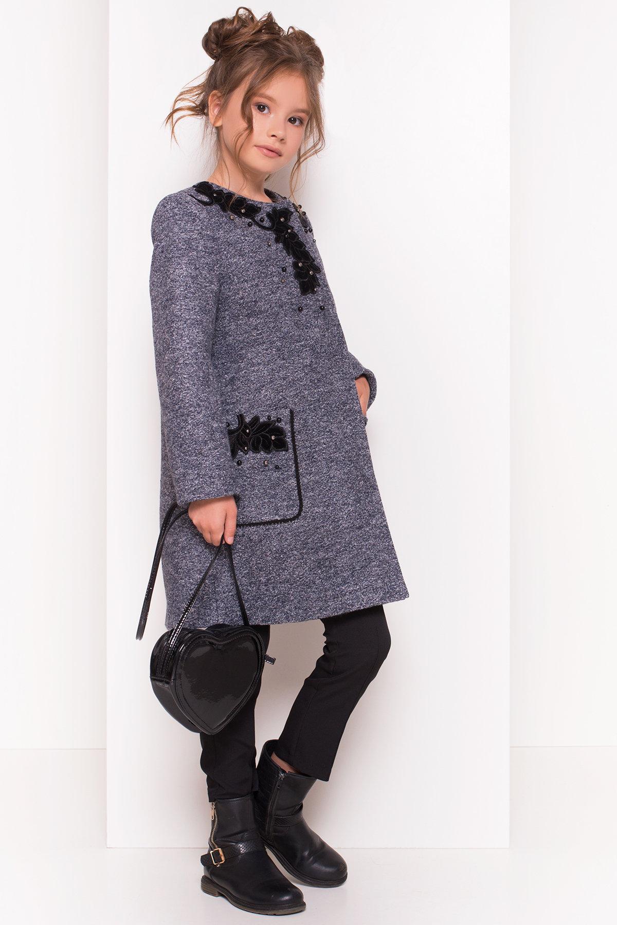 Пальто детское Злата 5249 Цвет: Серый темный LW-22