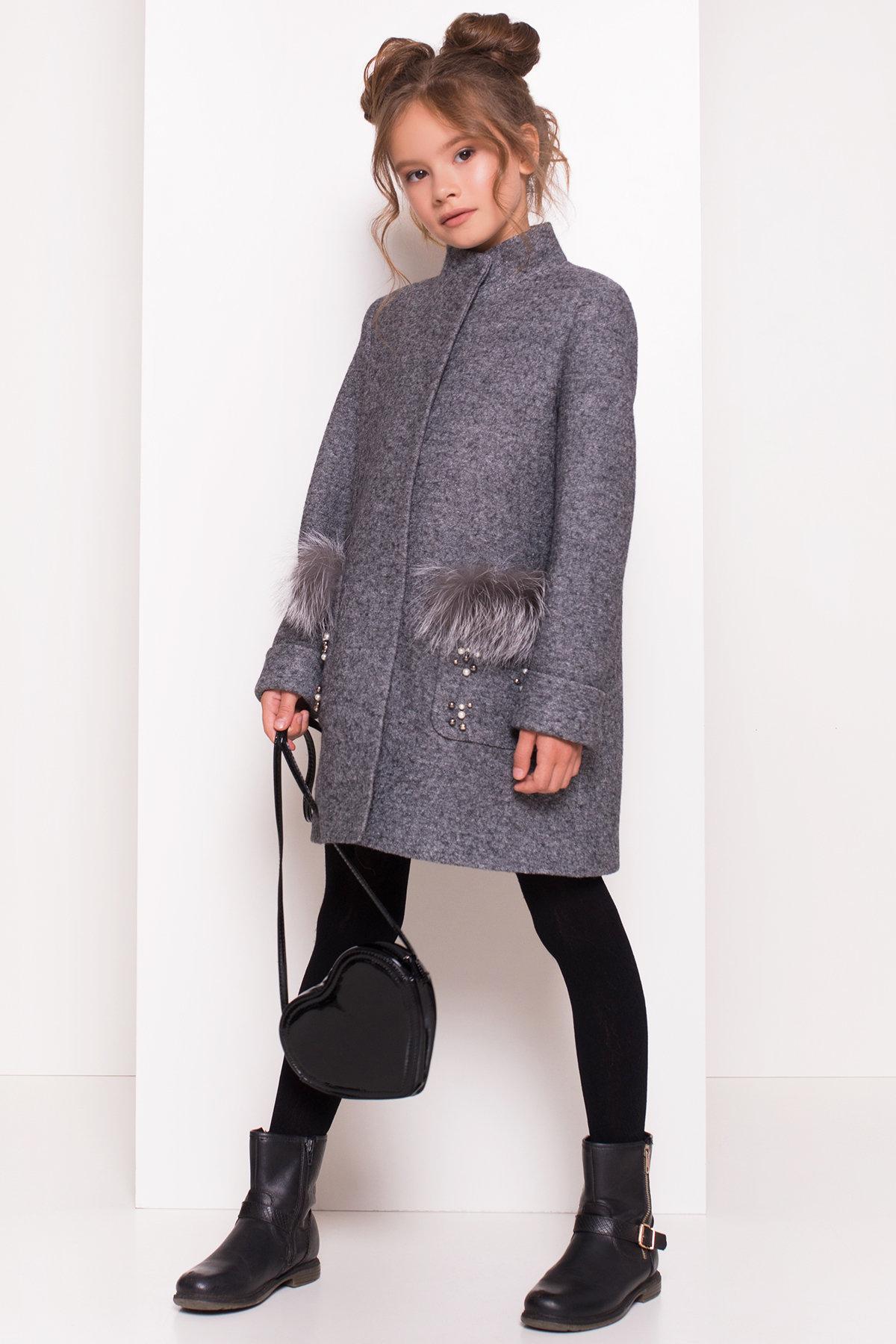 Пальто детское Норма 5286 АРТ. 36527 Цвет: Серый Темный LW-5 - фото 3, интернет магазин tm-modus.ru