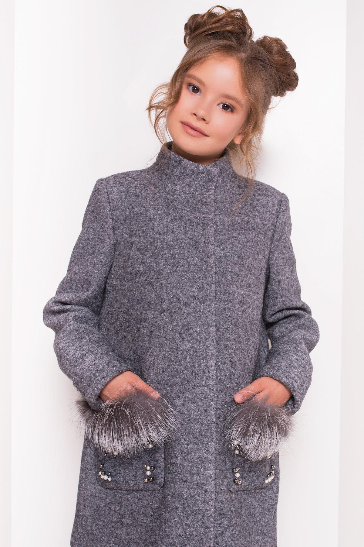 Пальто детское Норма 5286 АРТ. 36527 Цвет: Серый Темный LW-5 - фото 4, интернет магазин tm-modus.ru