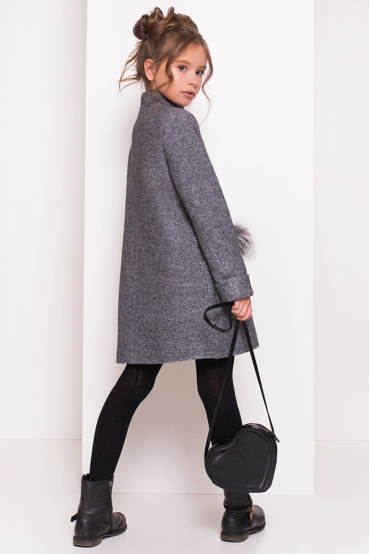 Пальто детское Норма 5286 АРТ. 36527 Цвет: Серый Темный LW-5 - фото 5, интернет магазин tm-modus.ru