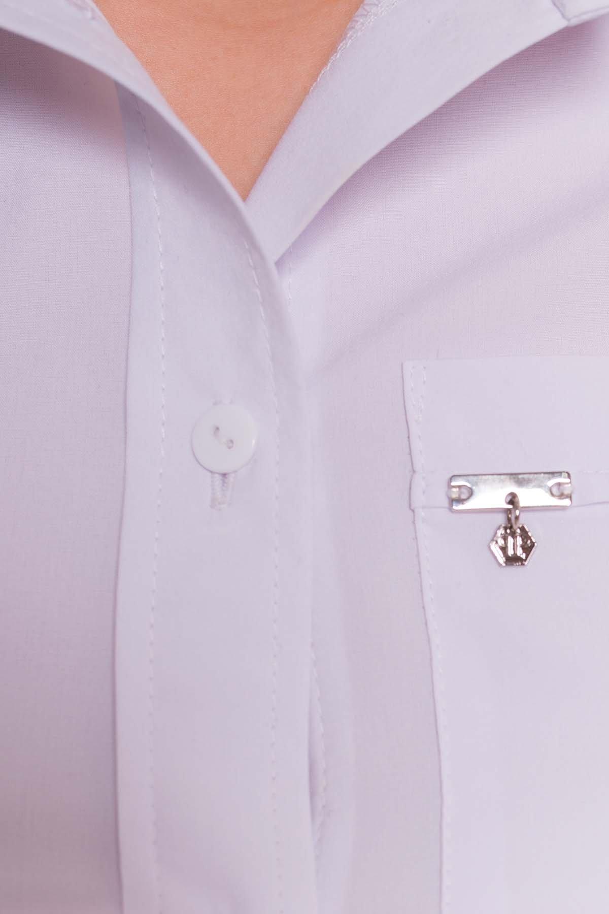 Белая блузка с накладным карманом Дженна 5285 АРТ. 36526 Цвет: Белый - фото 8, интернет магазин tm-modus.ru